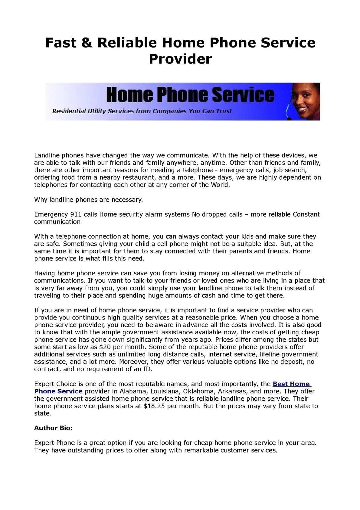 Landline Phone Service >> Calameo Fast Reliable Home Phone Service Provider
