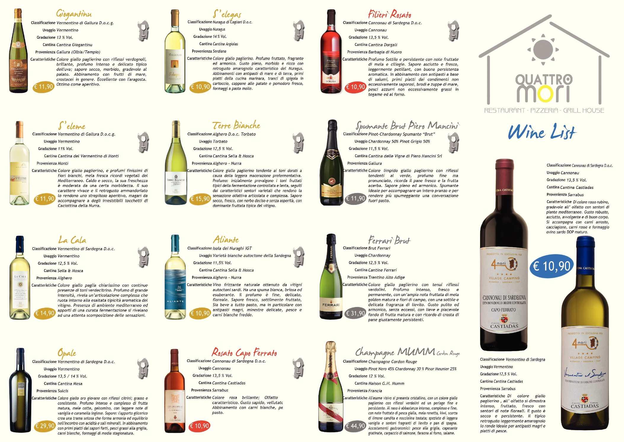 Fiori Bianchi Vino.Calameo Carta Dei Vini