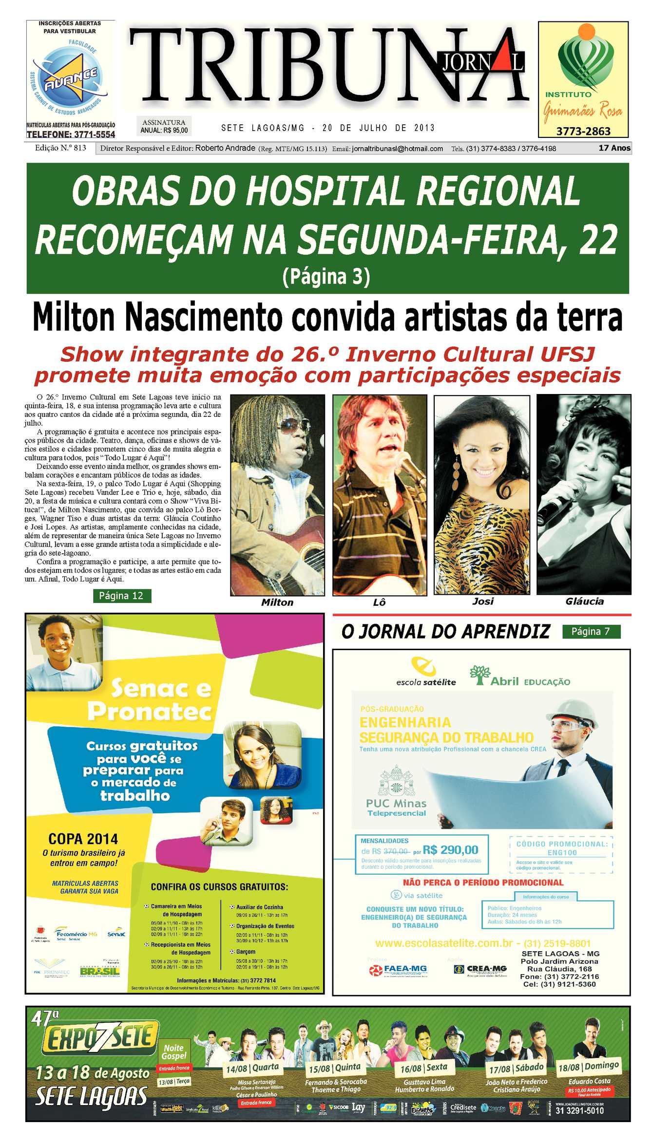 Calaméo - Jornal Tribuna de Sete Lagoas - edição 813 19157dd0f1
