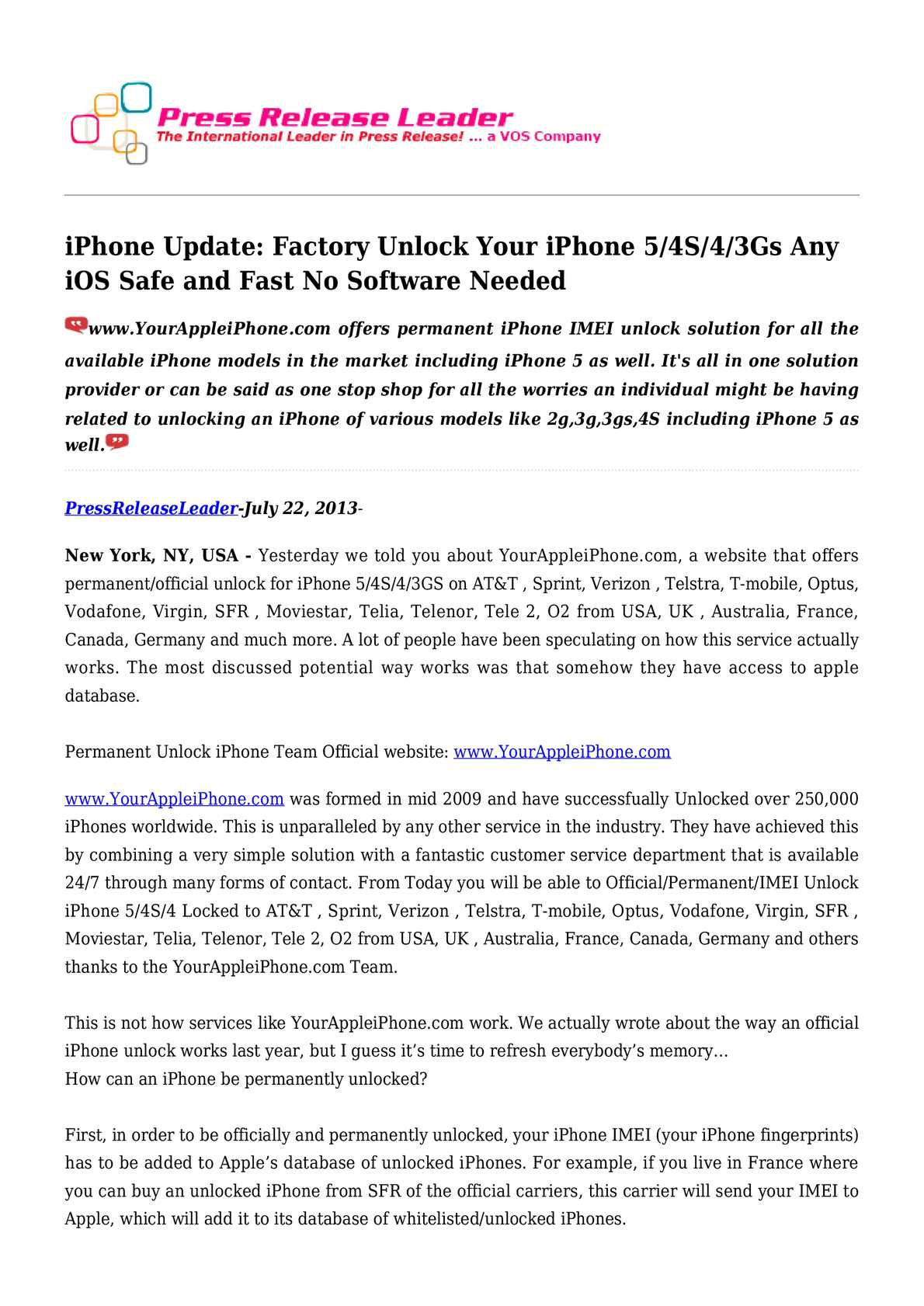 Calaméo - iPhone Update: Factory Unlock Your iPhone 5/4S/4/3Gs Any