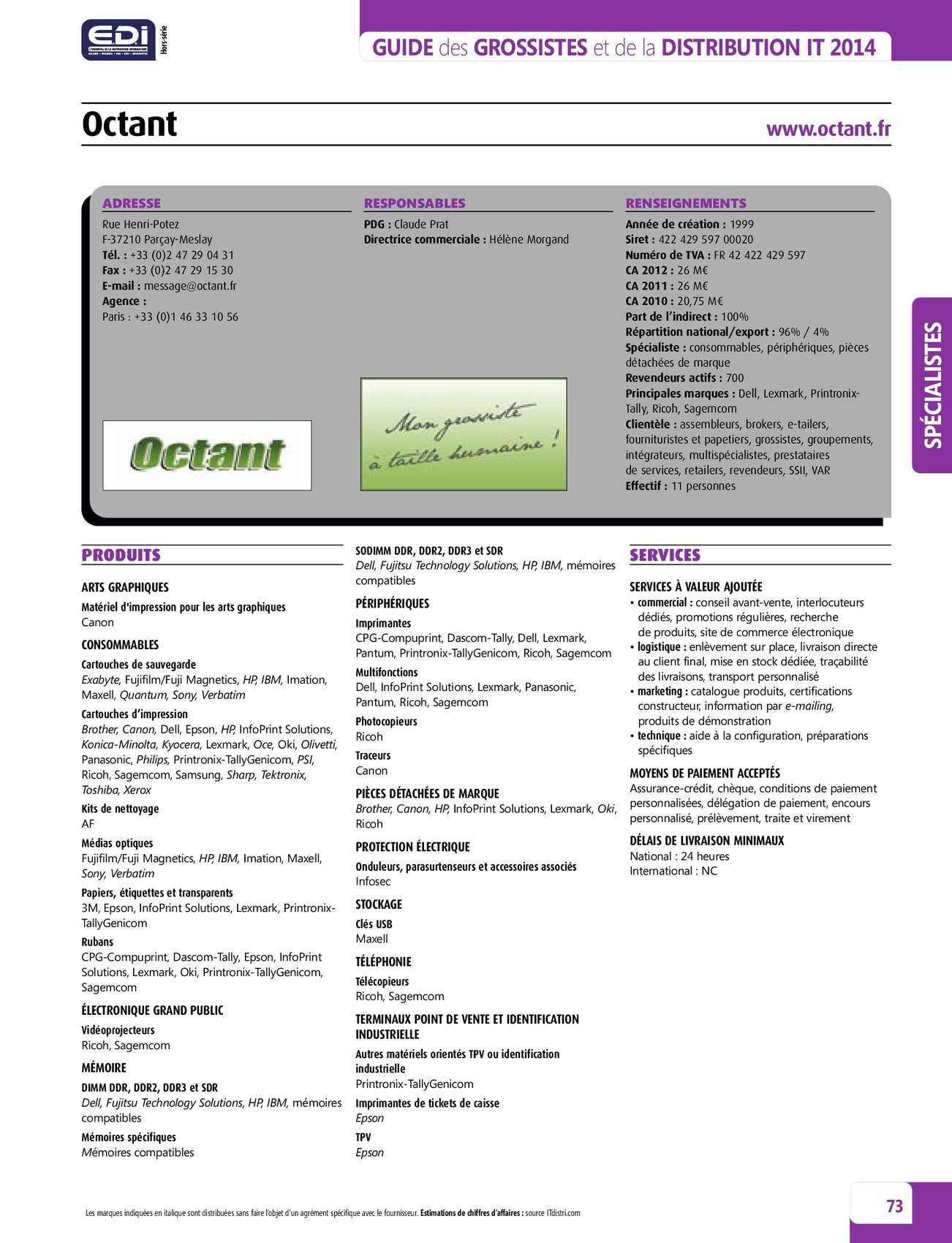 Guide de la distribution IT en France en 2013-2014 - CALAMEO