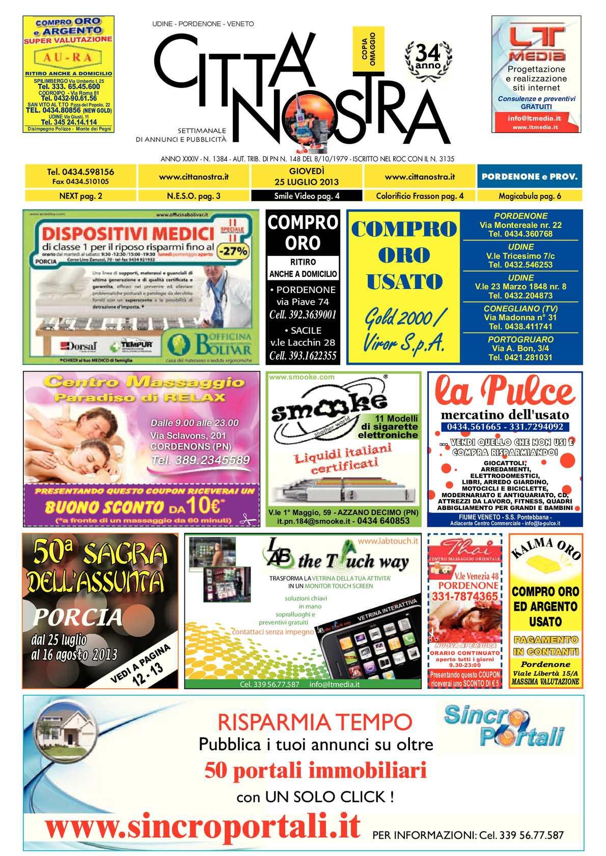 Calaméo - Città Nostra Pordenone del 25.07.2013 n. 1384 044d8b1b9db1