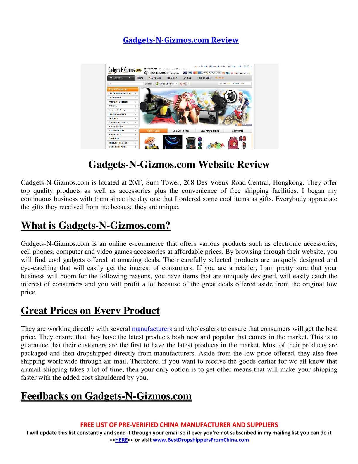 Calaméo - Gadgets-N-Gizmos com Review