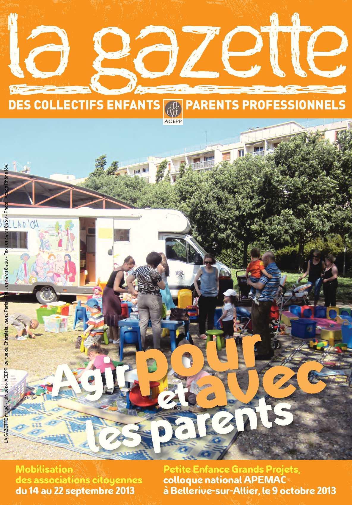 rencontre institutionnelle et professionnelle de la petite enfance 2014