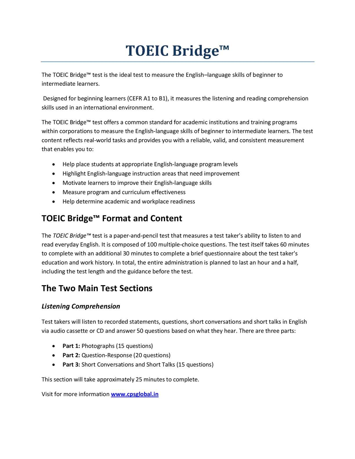 Calaméo - TOEIC Bridge - Ideal English Language Test