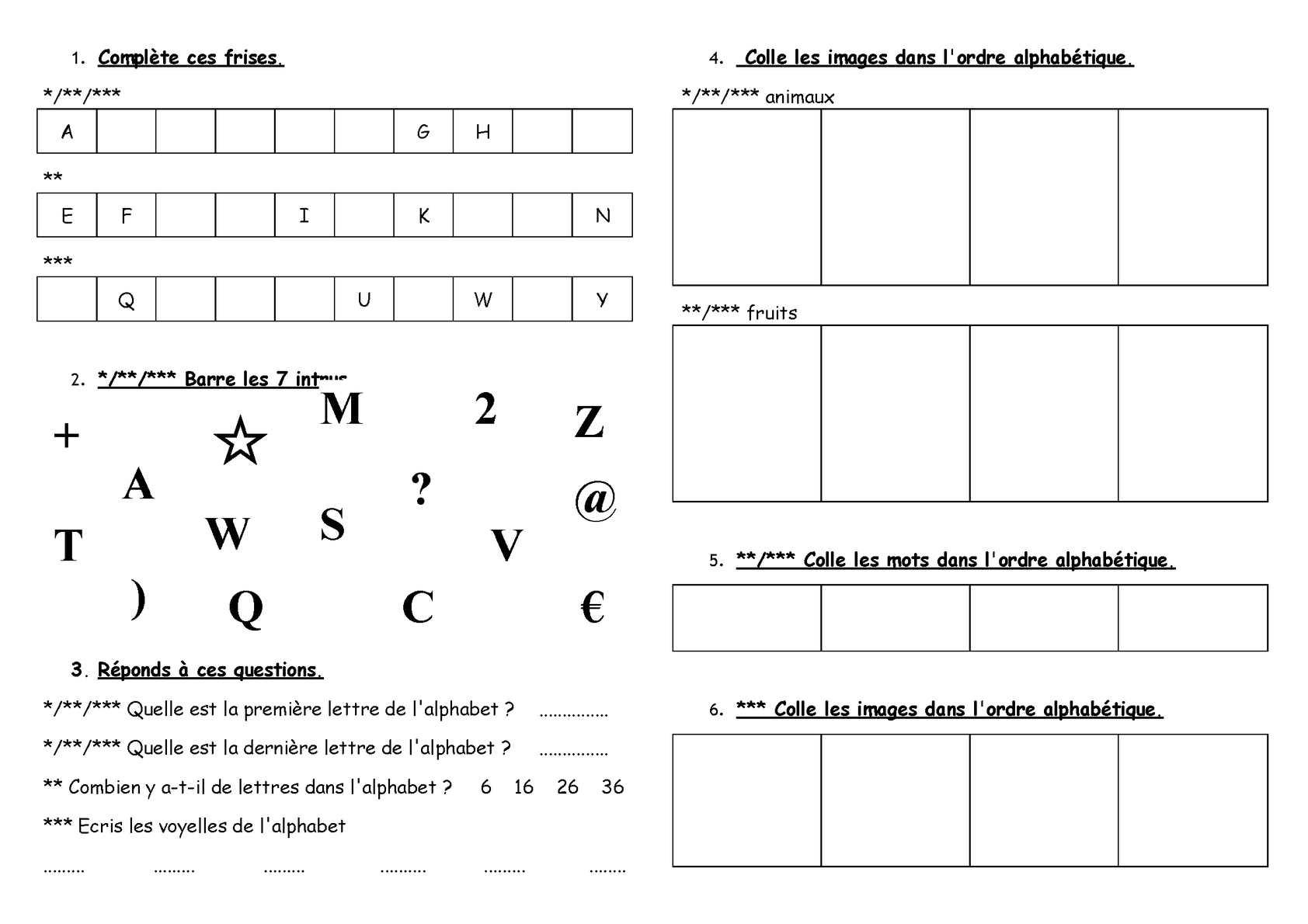 Calaméo   CP  ORL  l'alphabet exercices