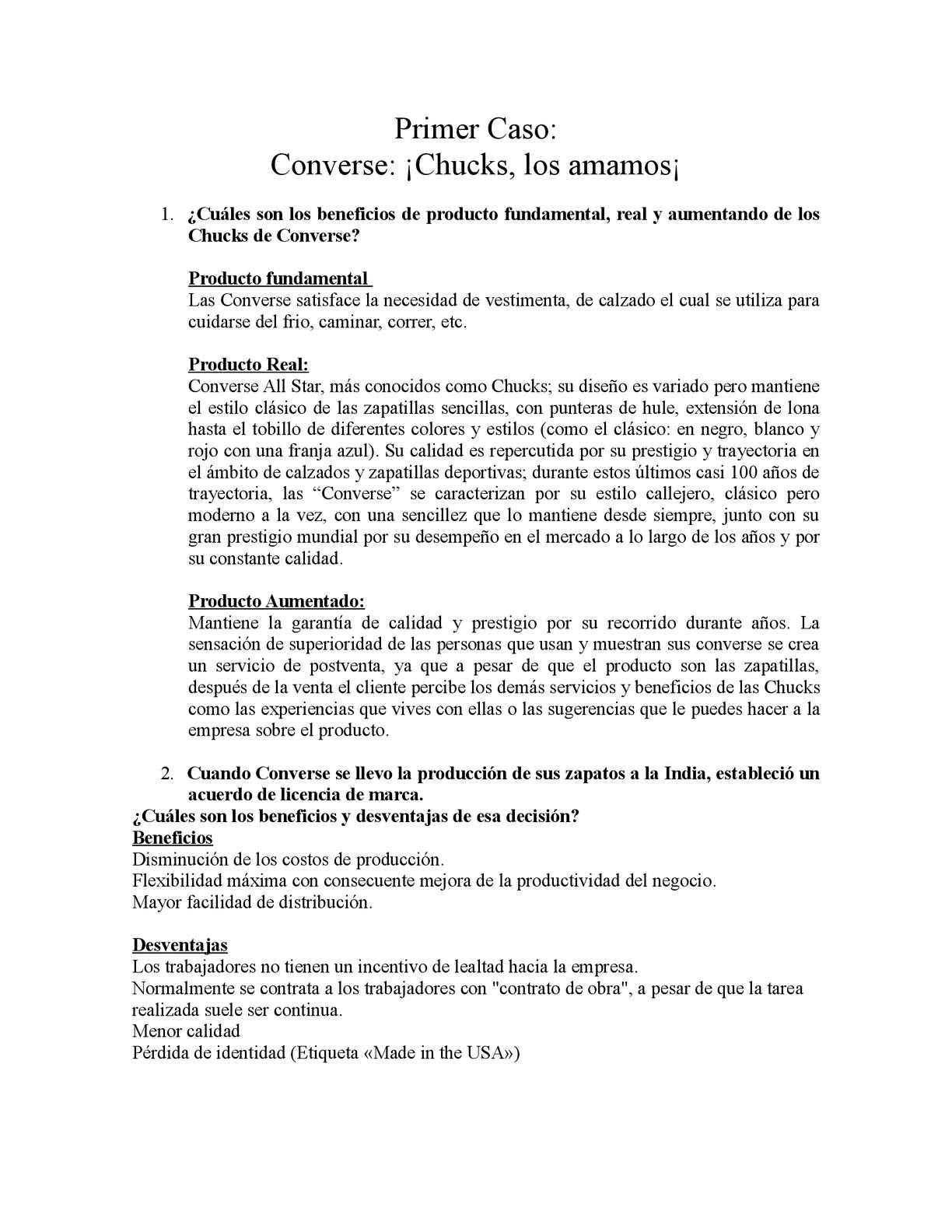 Calaméo Caso Empresarial: Converse: ¡Chucks los amamos!
