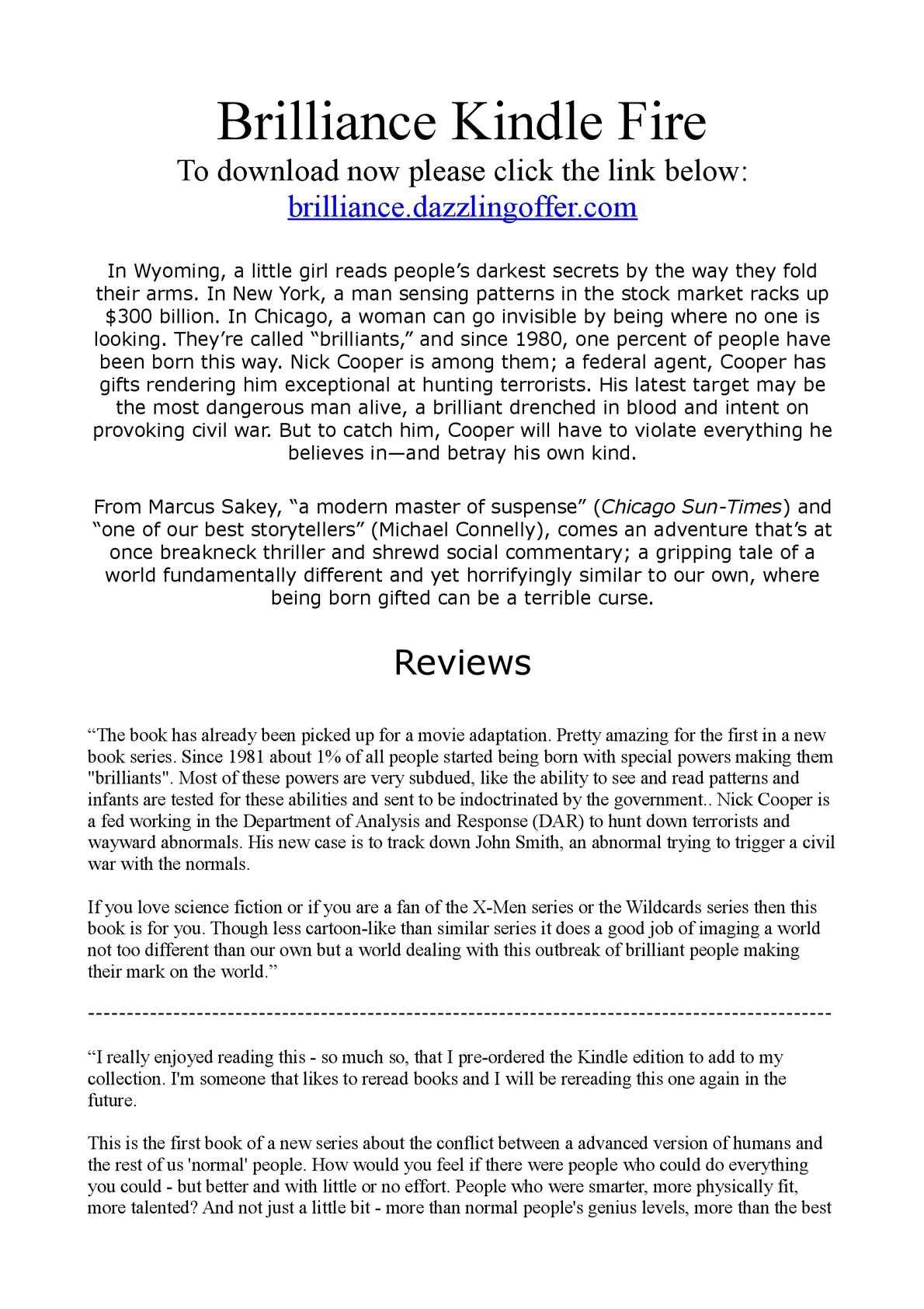 Calaméo - Brilliance Kindle Fire