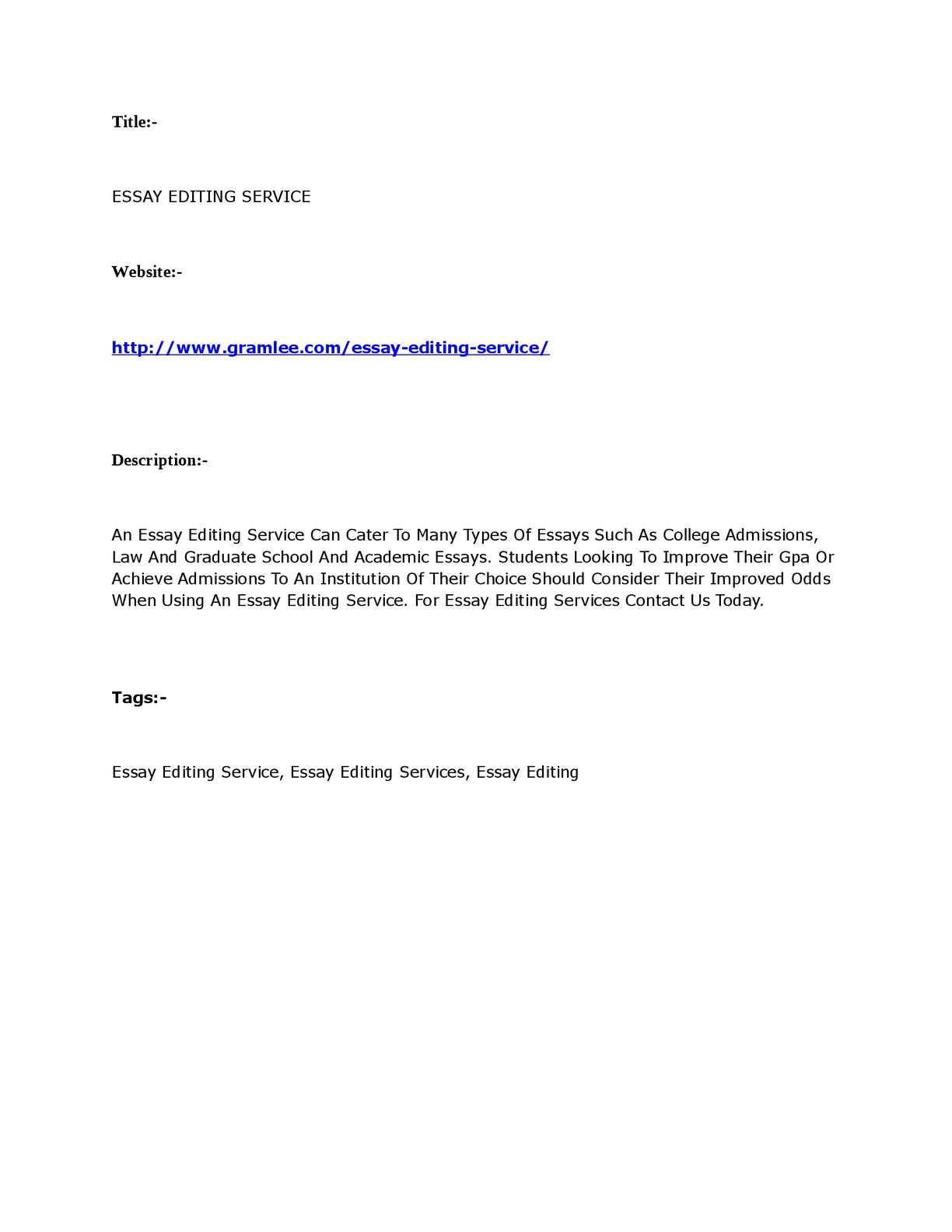Graduate school essay editing service