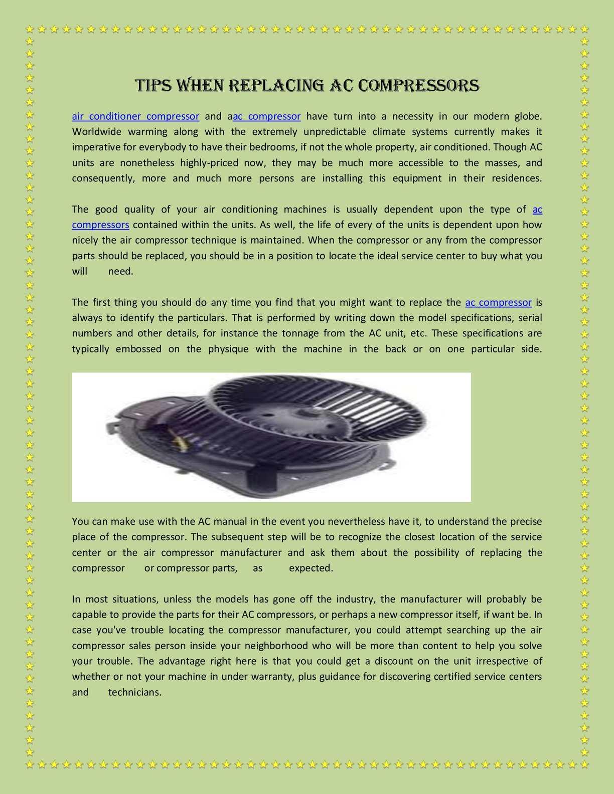 Calaméo - Tips When Replacing AC Compressors