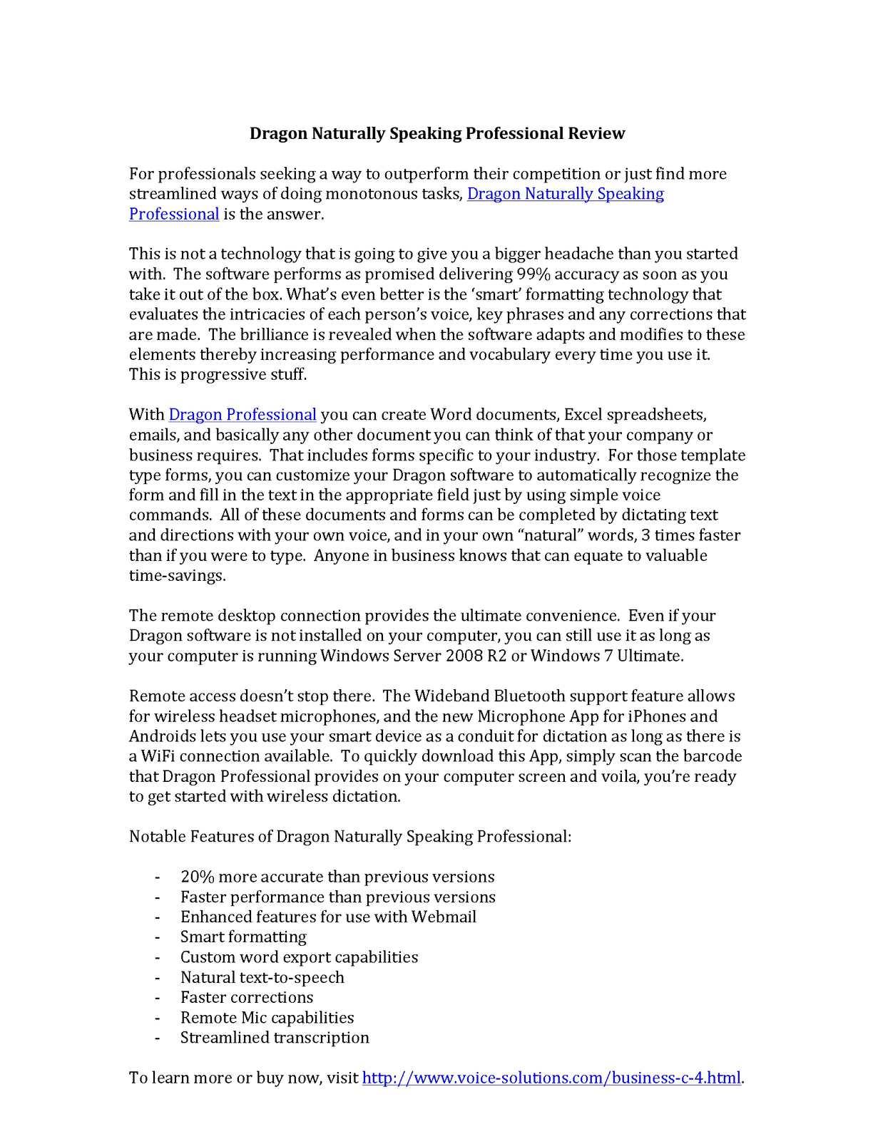 Calaméo - Dragon NaturallySpeaking Professional Review