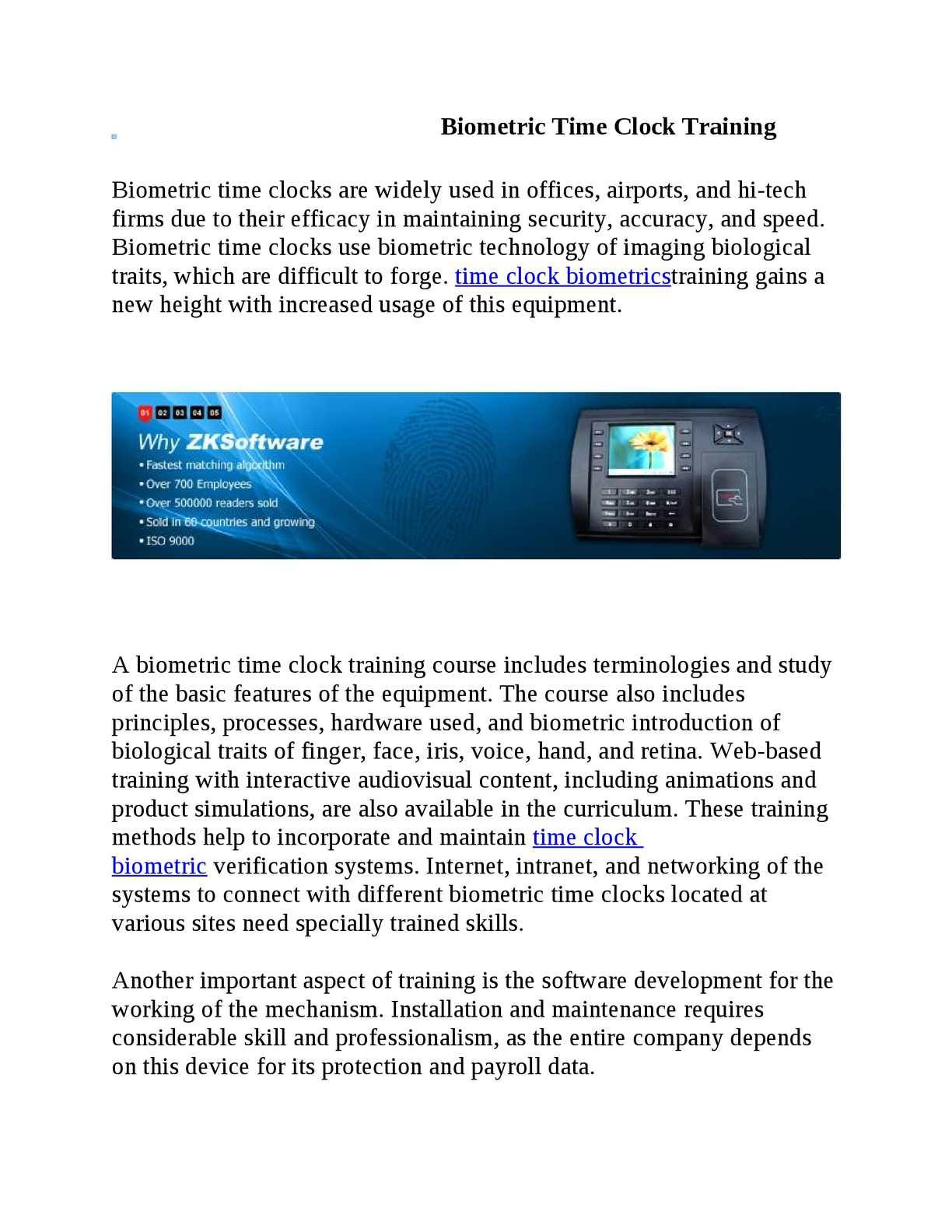 Calaméo - Biometric Time Clock Training
