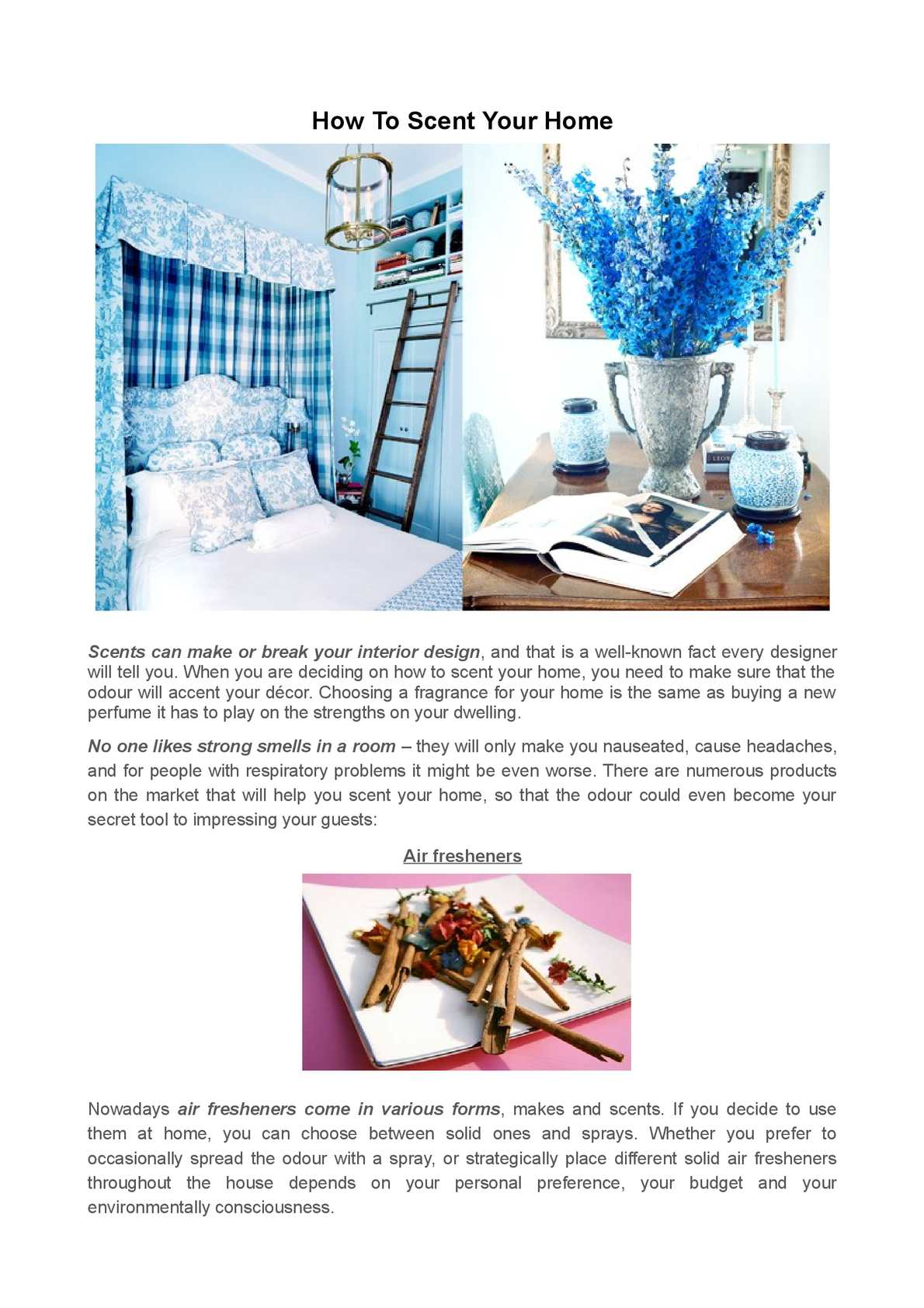 Calameo Creative Ideas On How To Scent Your Home