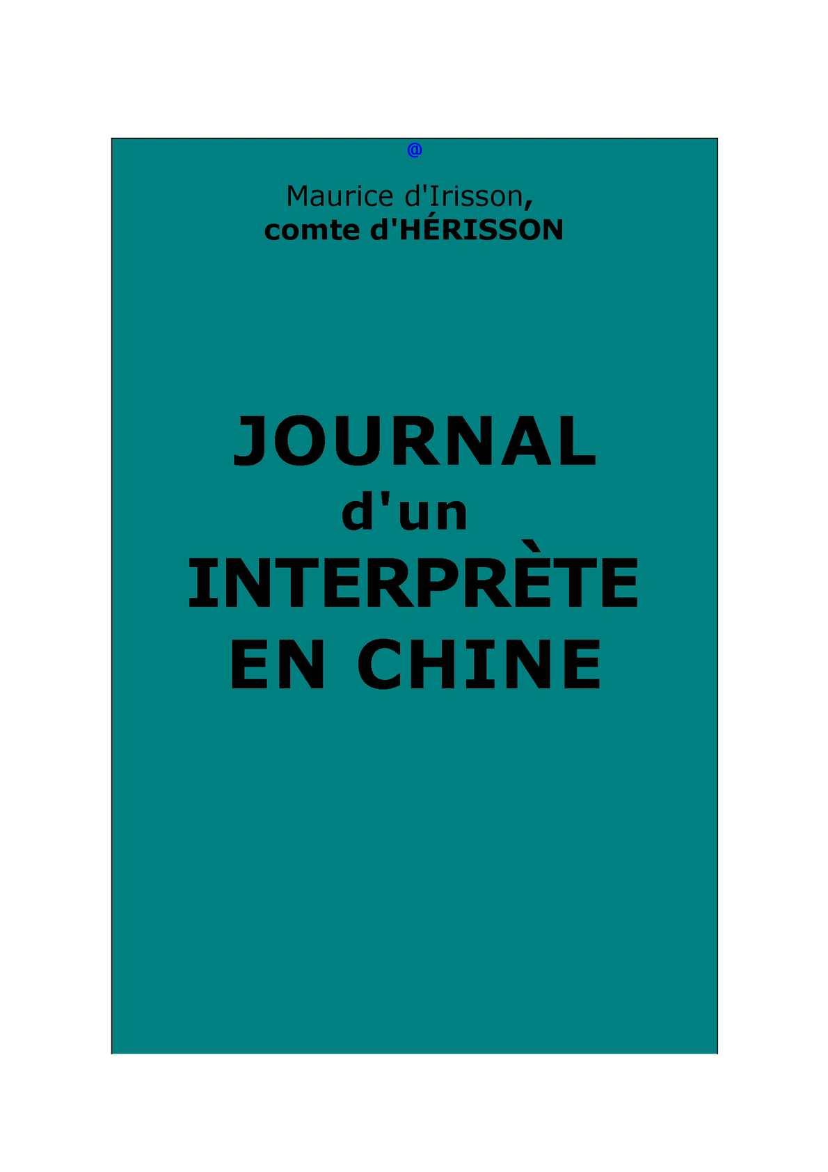 8a4e51d29f2a Calaméo - Hérisson, comte d    Journal d un interprète en Chine