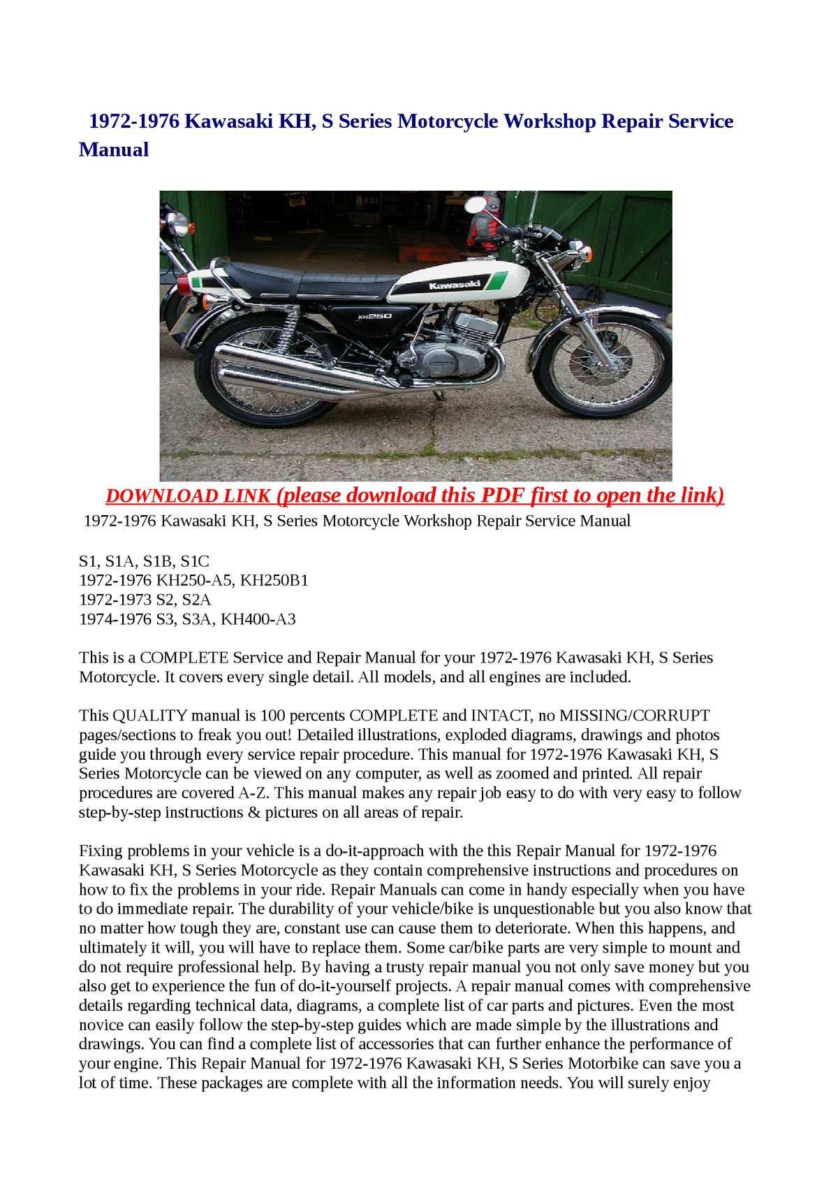 download now kh250 kh400 s1 s2 s3 service repair workshop manual instant download