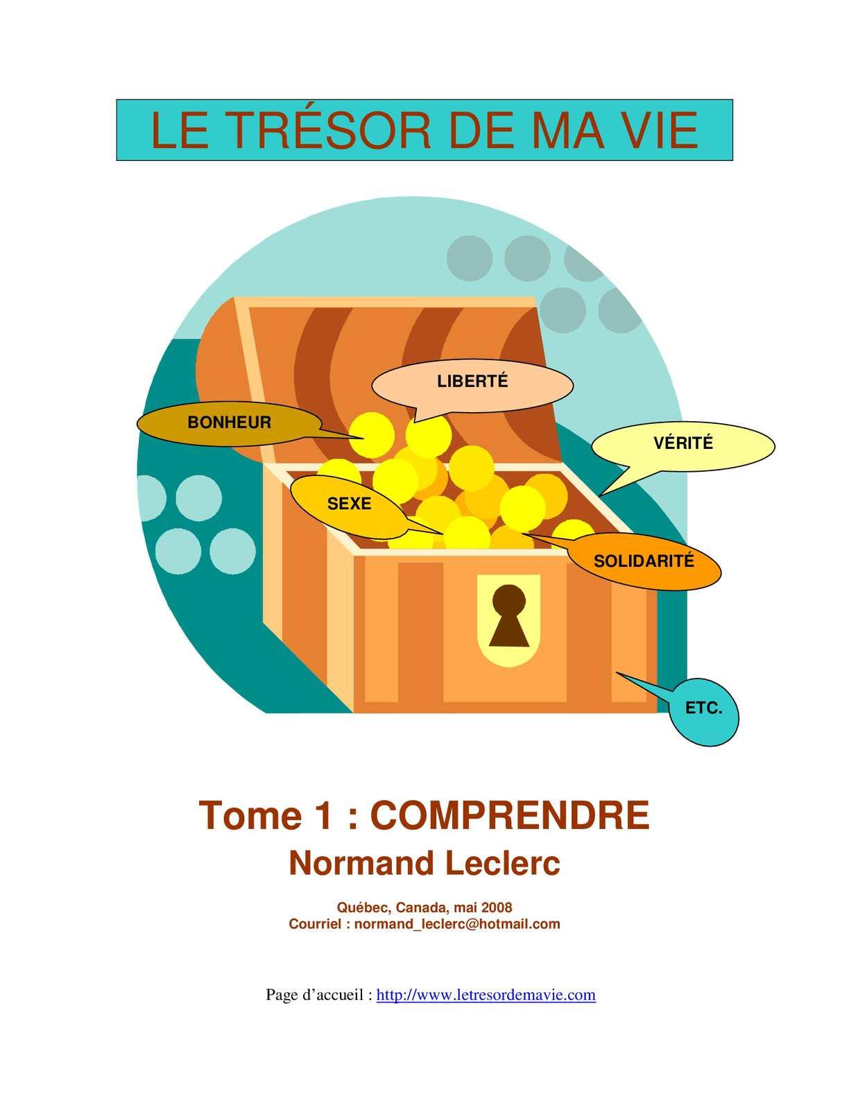 Calaméo Le Trésor De Ma Vie Normand Leclerc