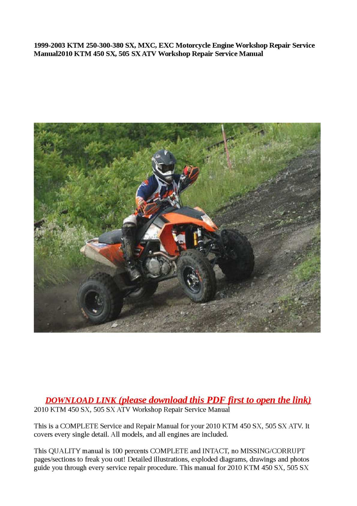 ktm 450 atv wiring diagram
