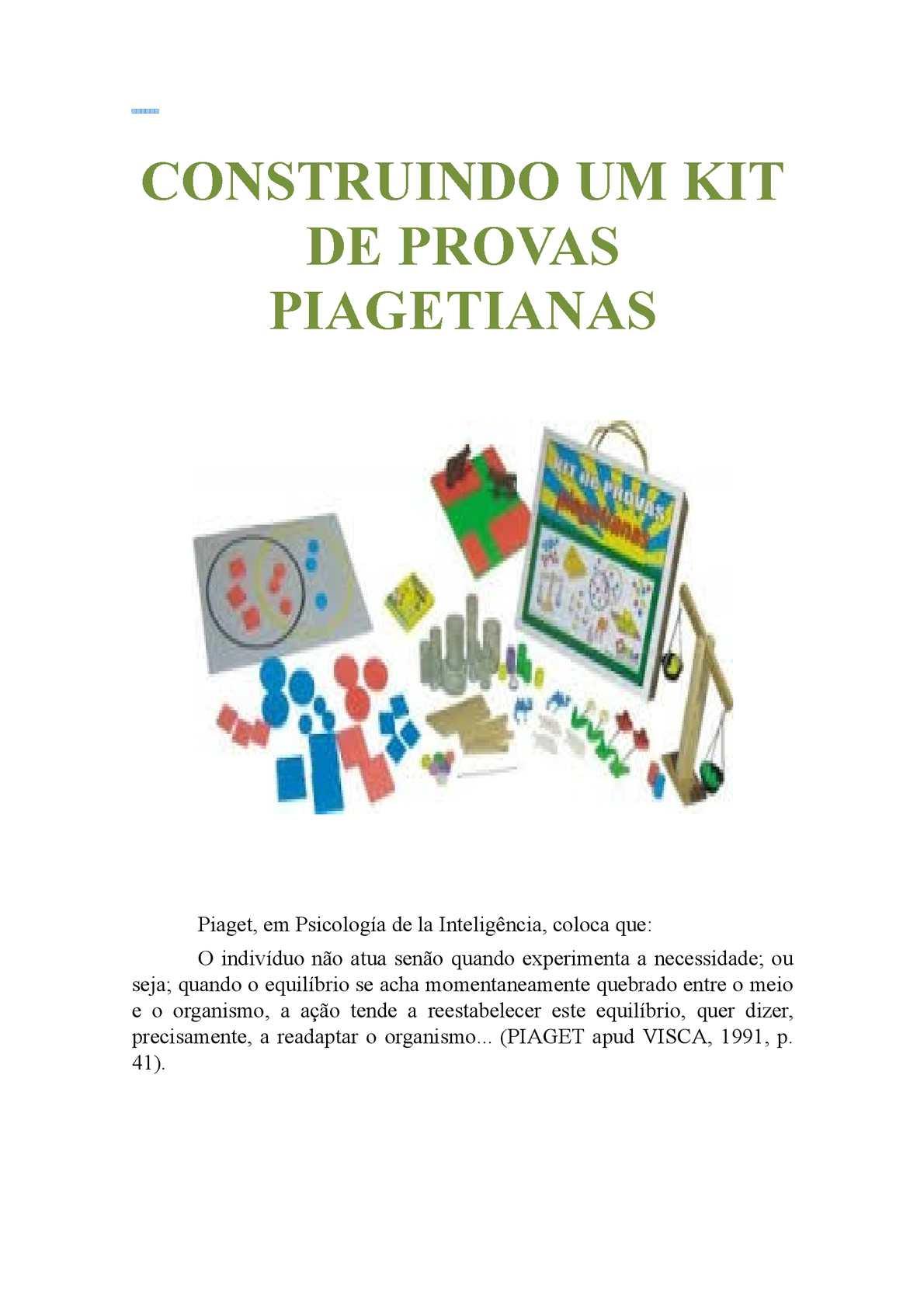 54bc21ecef4 Calaméo - Construindo um kit de provas piagetianas