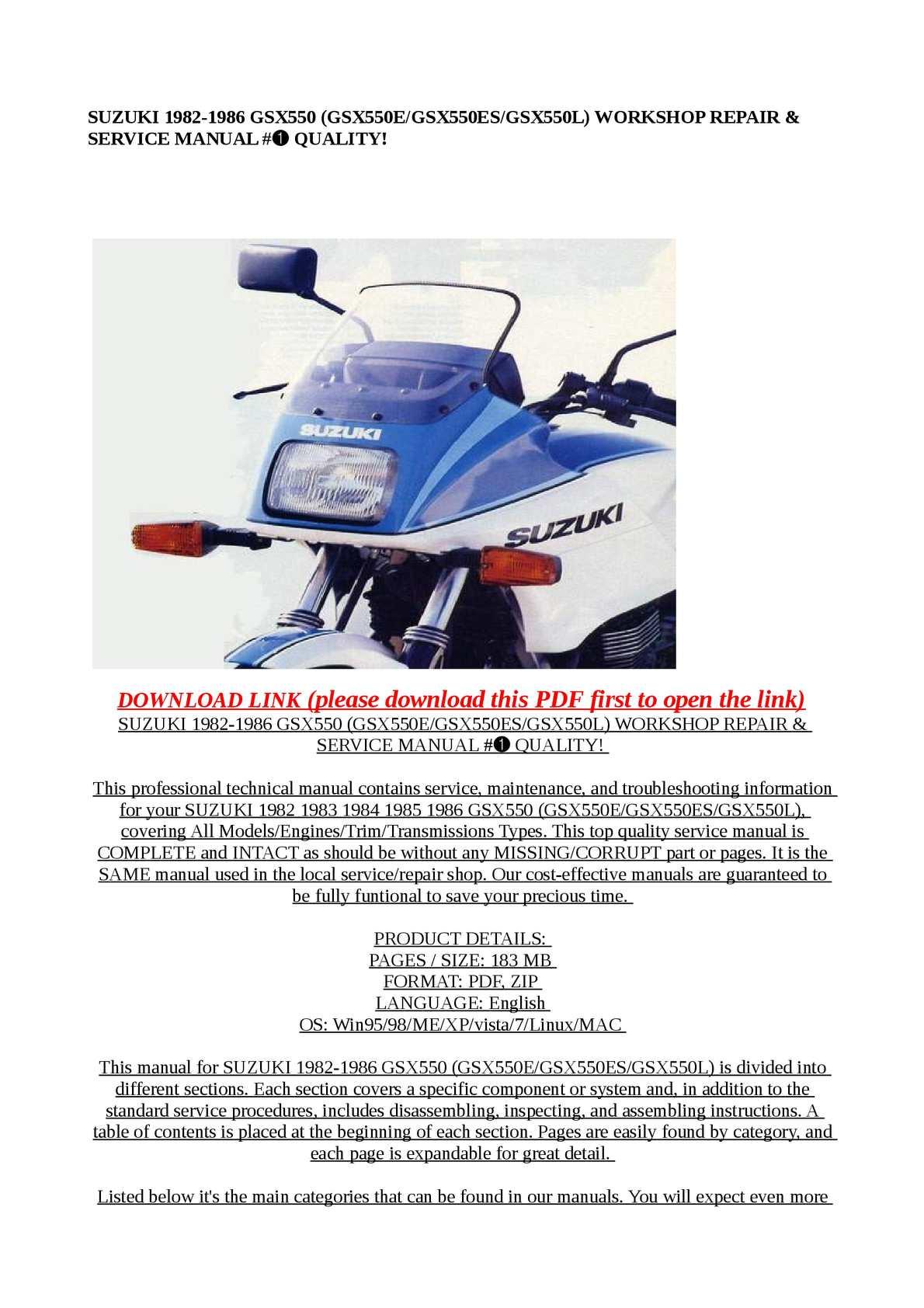 Gsx 550 Manual