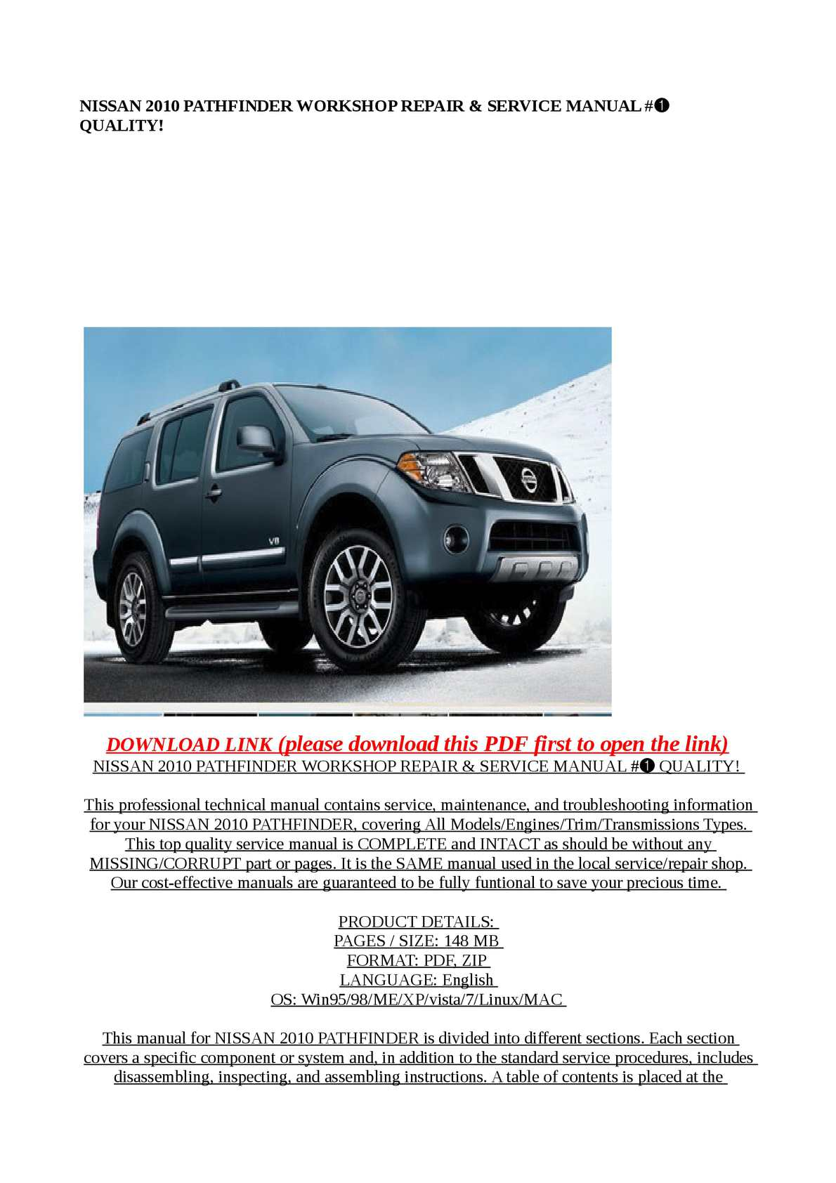 2011 Nissan Pathfinder Maintenance Manual Recomended Car 2010 Wiring Diagram Service Good Owner Guide Website