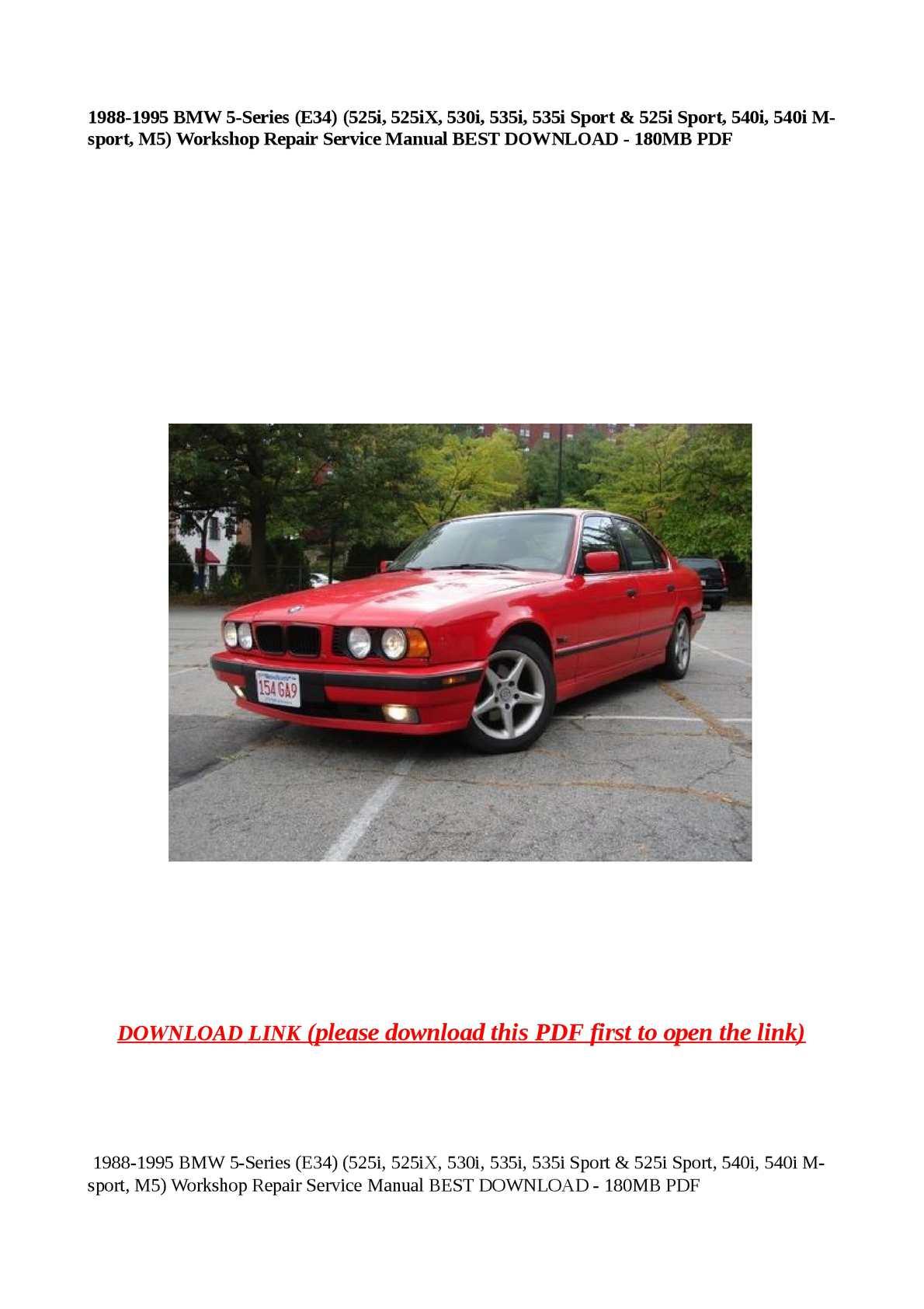 Calaméo - 1988-1995 BMW 5-Series (E34) (525i, 525iX, 530i