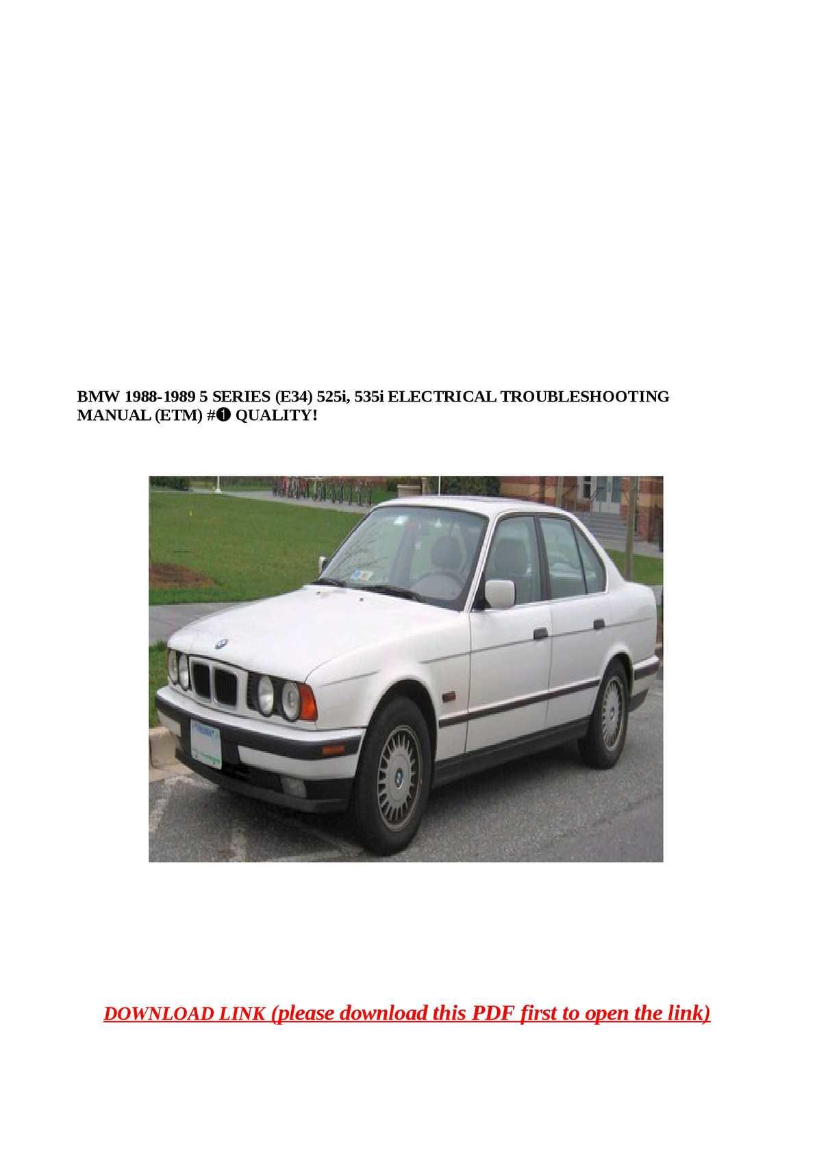 Calaméo - BMW 1988-1989 5 SERIES (E34) 525i, 535i ELECTRICA