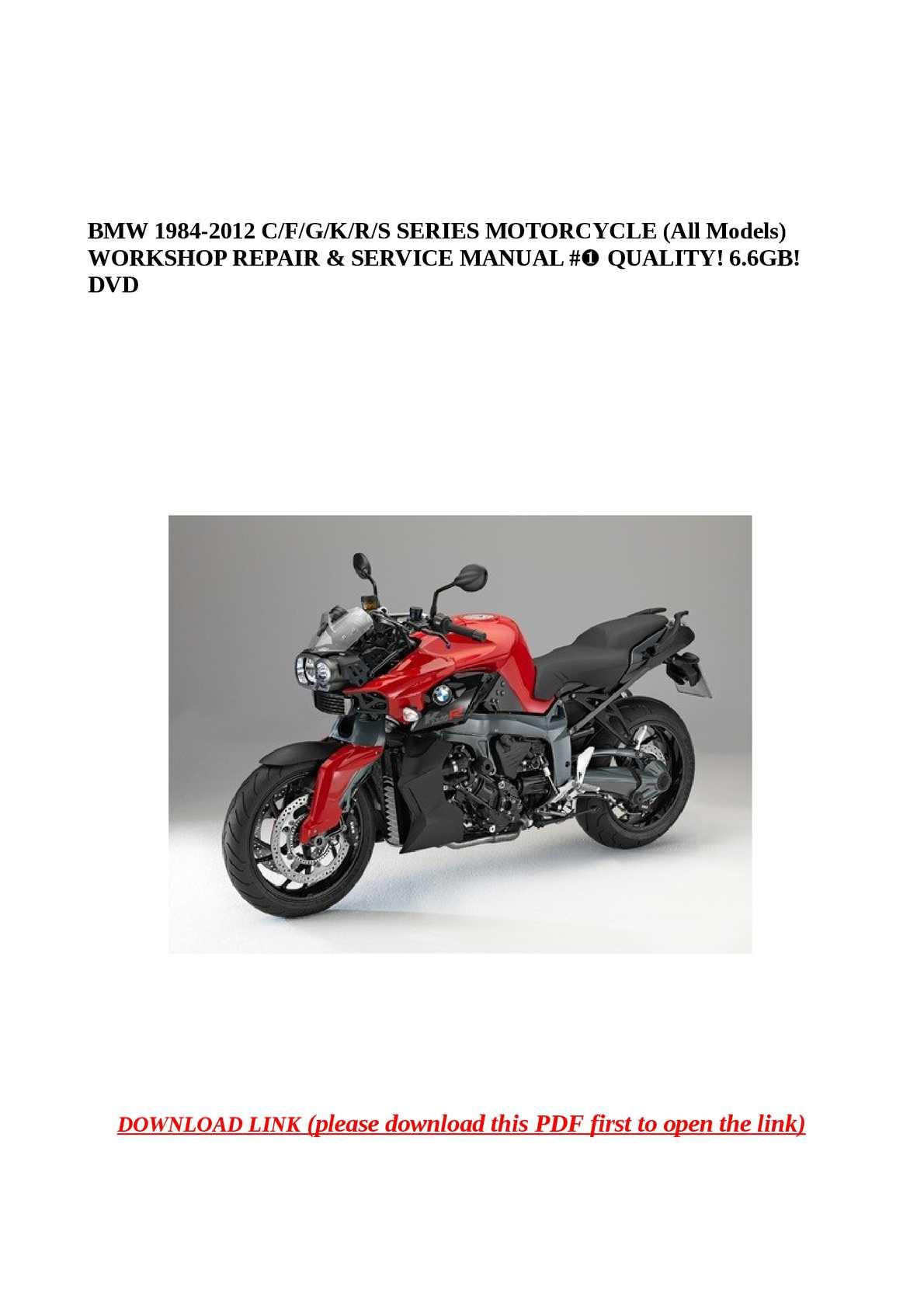 ... Array - calam o bmw 1984 2012 c f g k r s series motorcycle all rh  calameo com Array - bmw motorcycle service and repair manuals ...