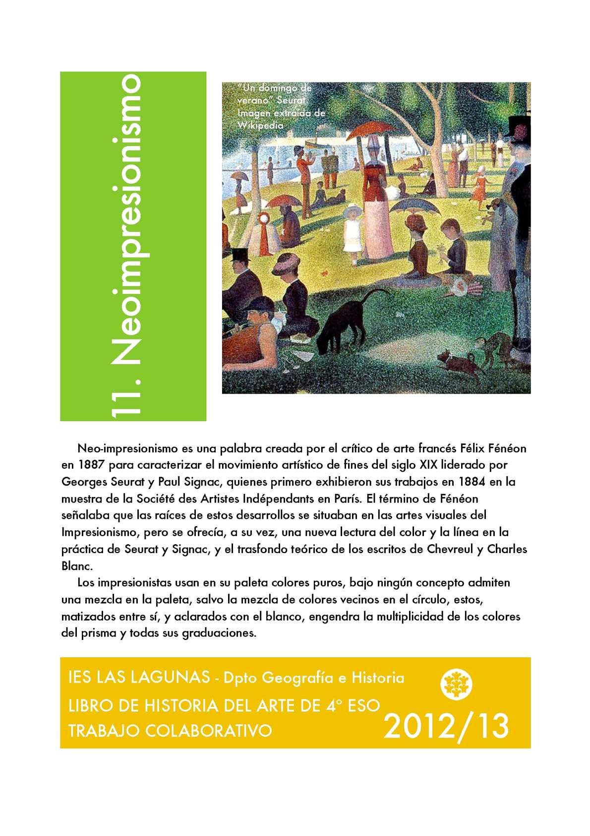 Libro Historia del arte 4º ESO Vol. 2 Curso 2012/13
