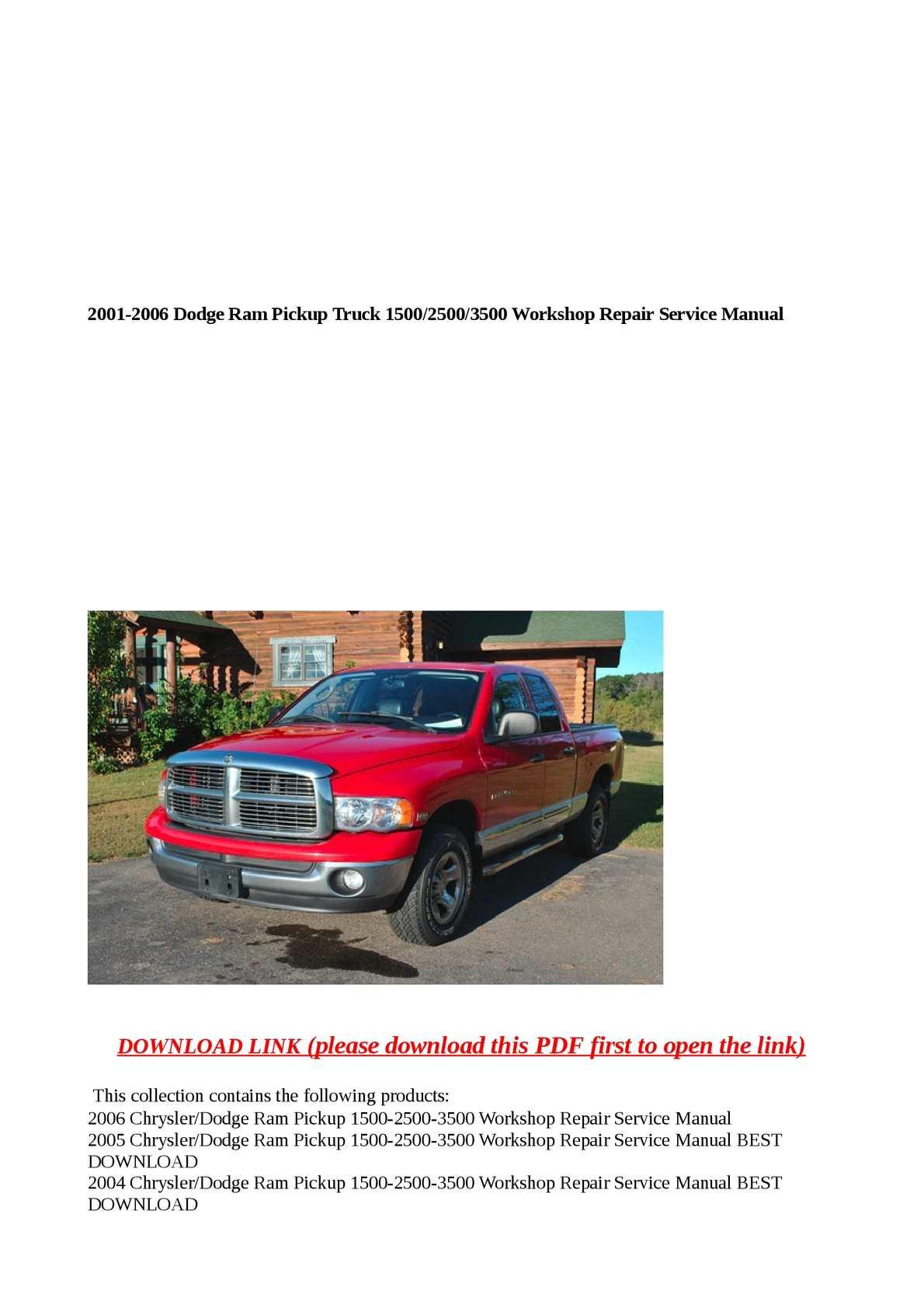 ... Array - calam o 2001 2006 dodge ram pickup truck 1500 2500 3500 works  rh calameo Array - dodge pick ups 1994 2001 haynes repair manuals ...