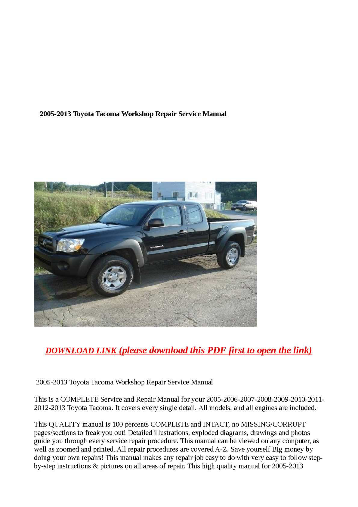 ... Array - calam o 2005 2013 toyota tacoma workshop repair service manual  rh calameo ...
