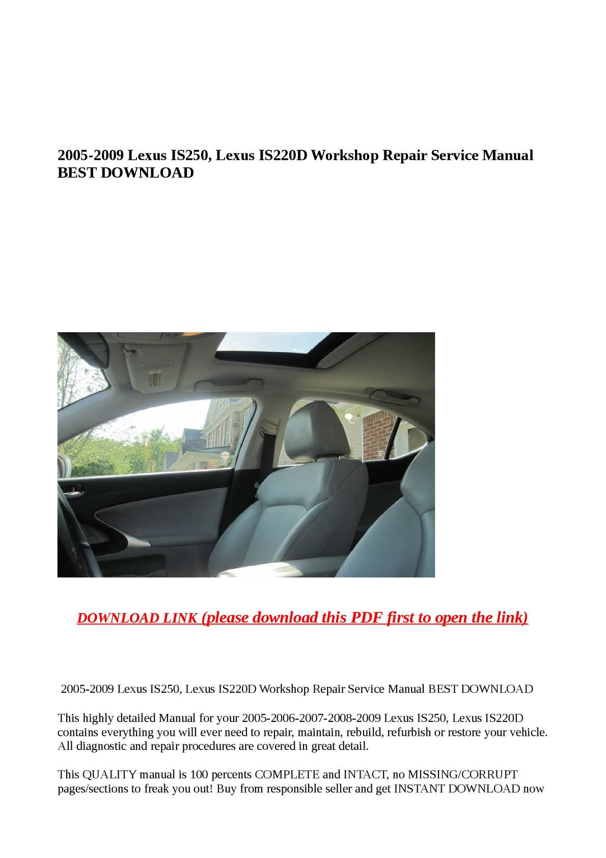 Lexus Is 220d Wiring Diagram Complete Diagrams Isf Calam O 2005 2009 Is250 Is220d Workshop Repair Rh Calameo Com 200 From New Zealand 2014