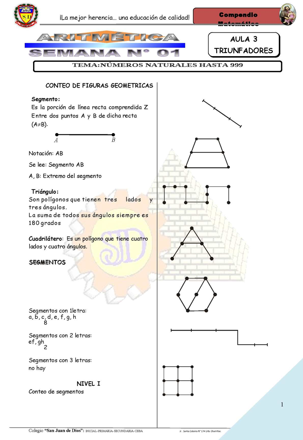 primer bimestre algebra