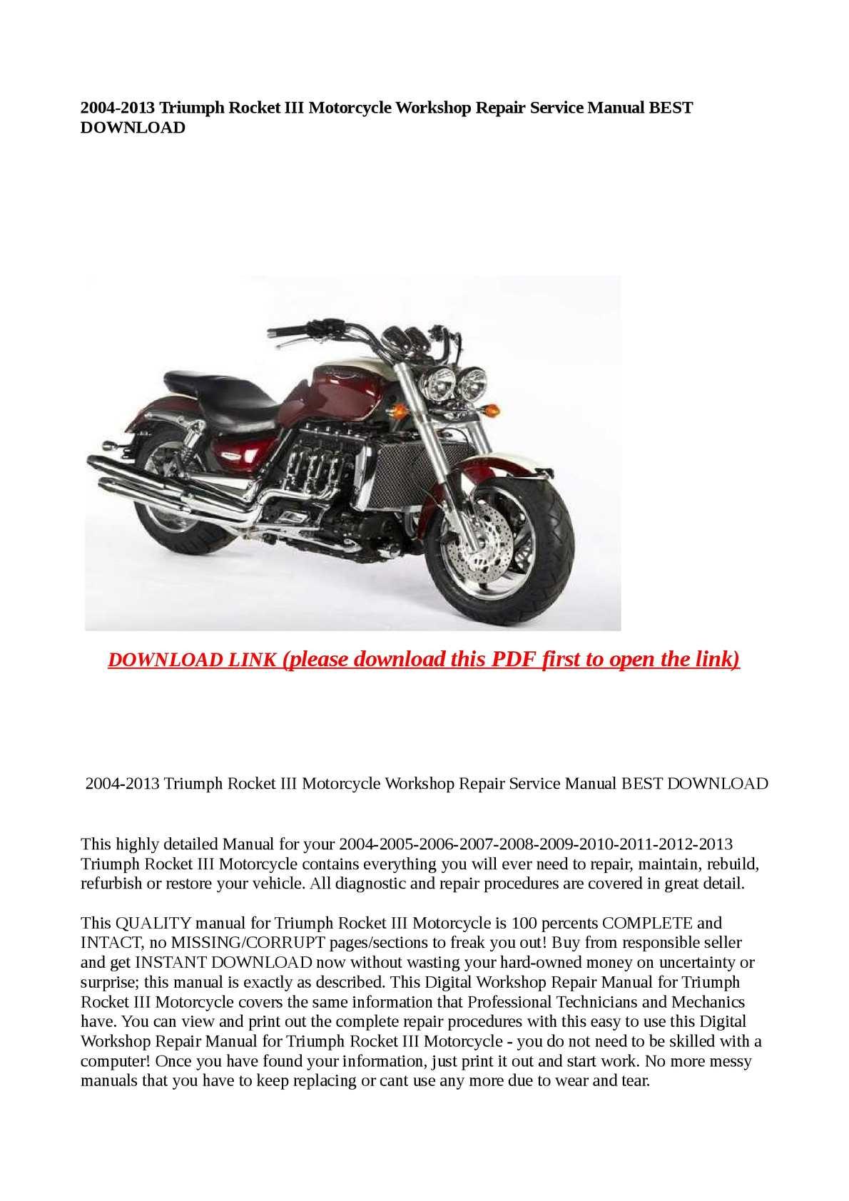 Calameo 2004 2013 Triumph Rocket Iii Motorcycle Workshop Repair