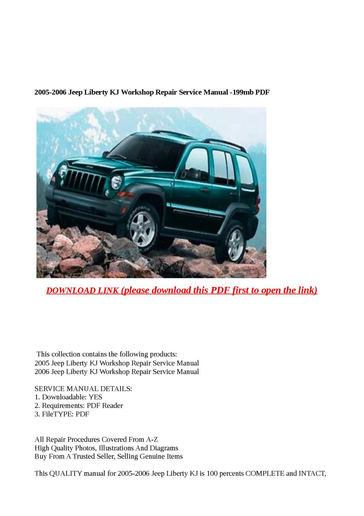 Calaméo - 2005-2006 Jeep Liberty KJ Workshop Repair Service Manual -199mb