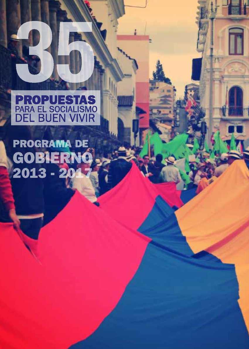 Calaméo - 35 Propuestas para el Socialismo del Buen Vivir