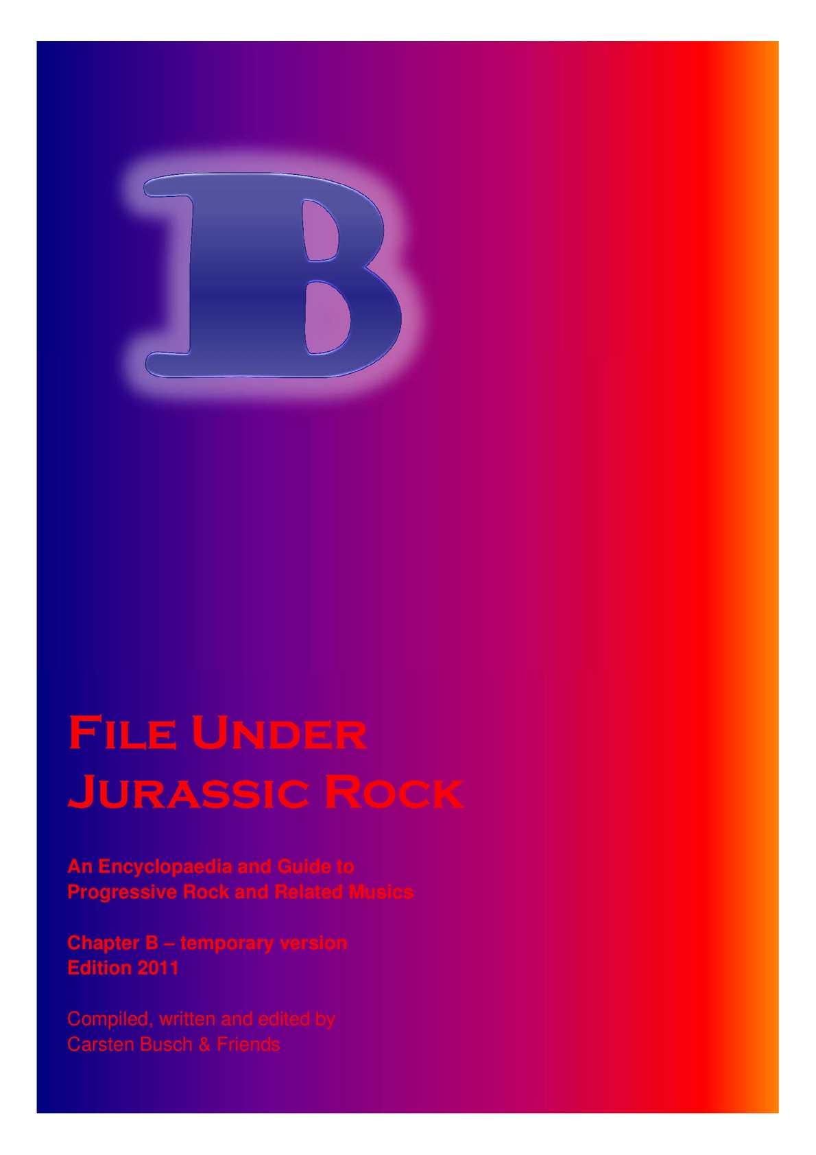 da7a3b263c Calaméo - File Under Jurassic Rock - B temporary (2011)