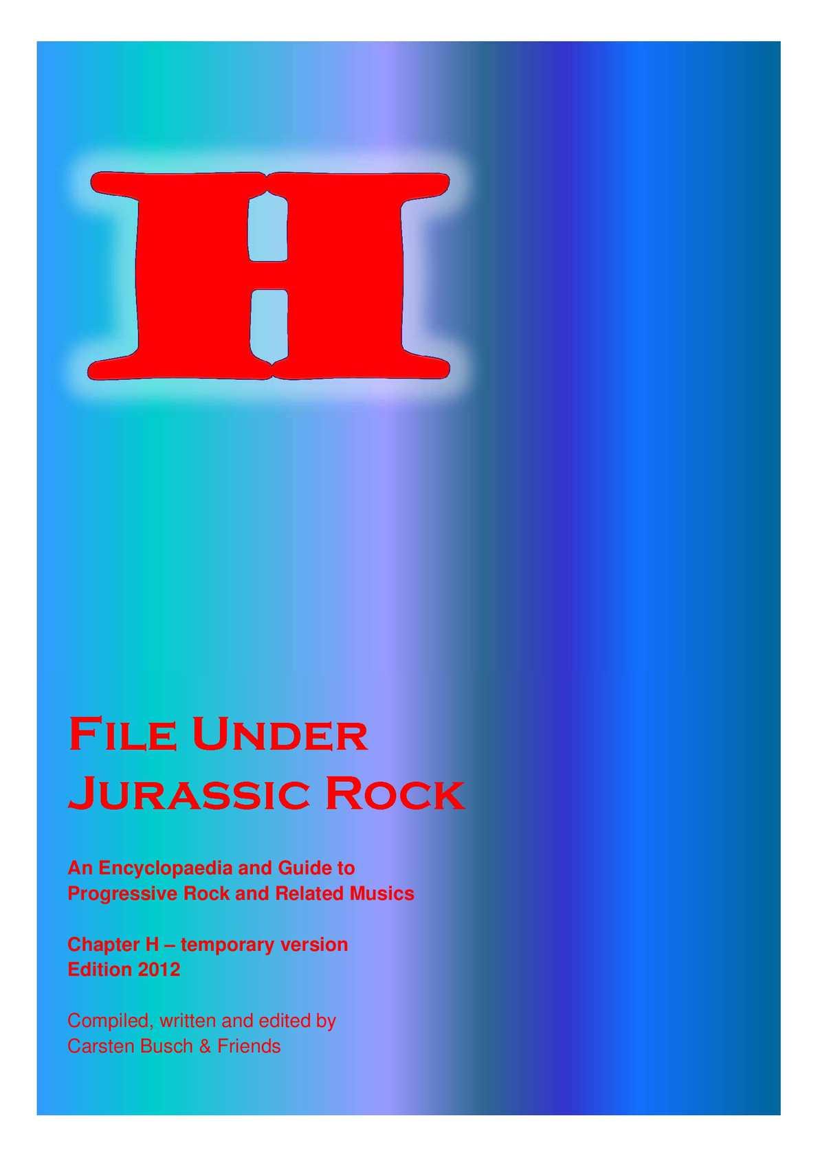 Calaméo - File Under Jurassic Rock - H temporary (2012)
