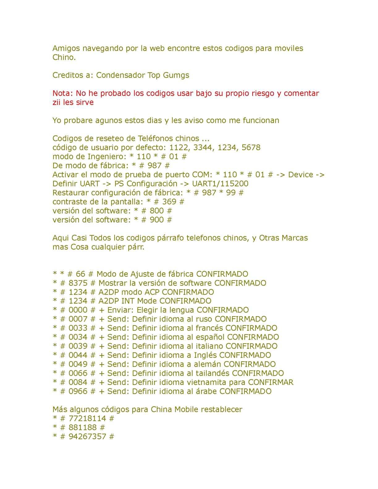 56d180122c6 Calaméo - codigos para desbloquer celulares