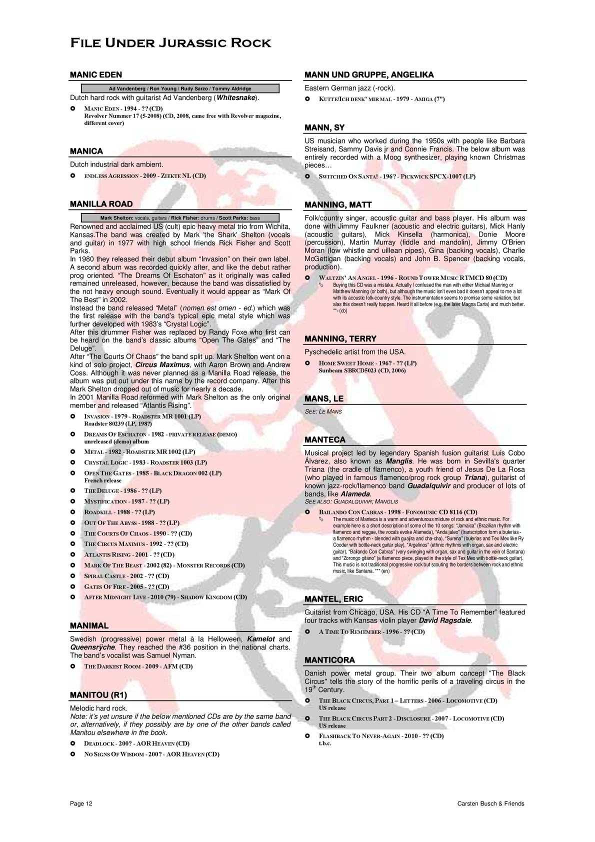 File Under Jurassic Rock - Mzz appendix (2010) - CALAMEO