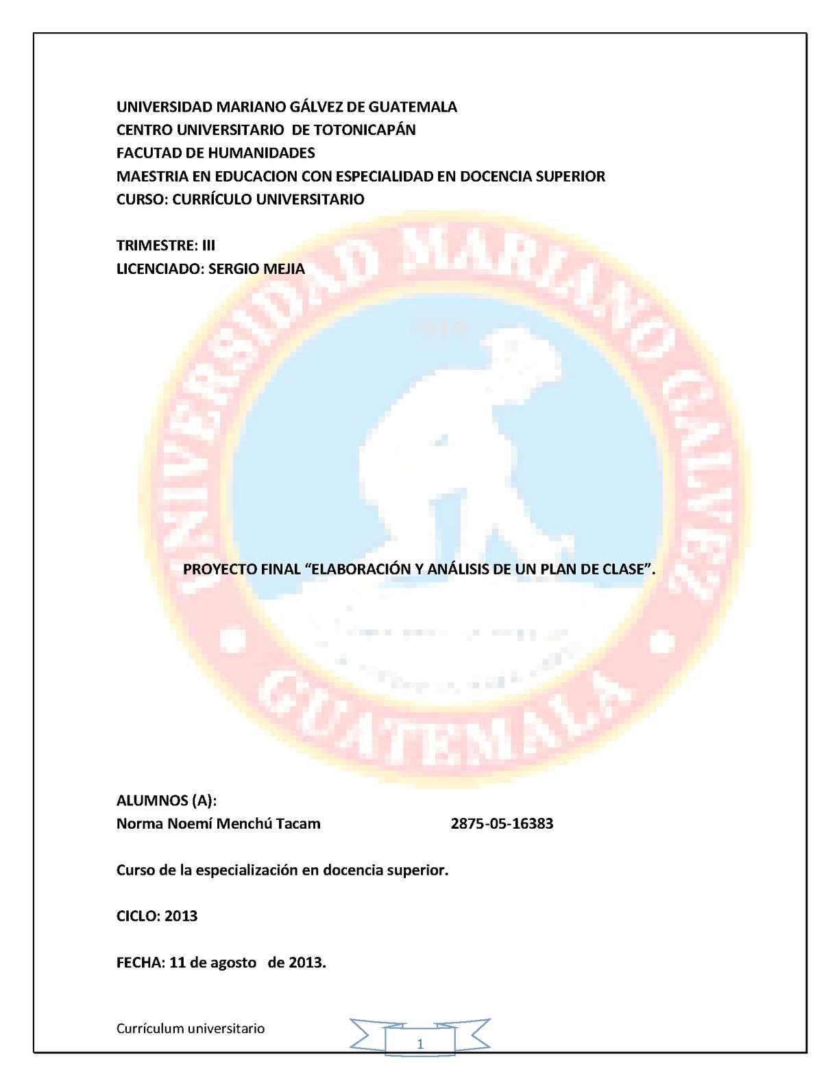 Calaméo Proyecto Final Currículum Educación Superior Norma