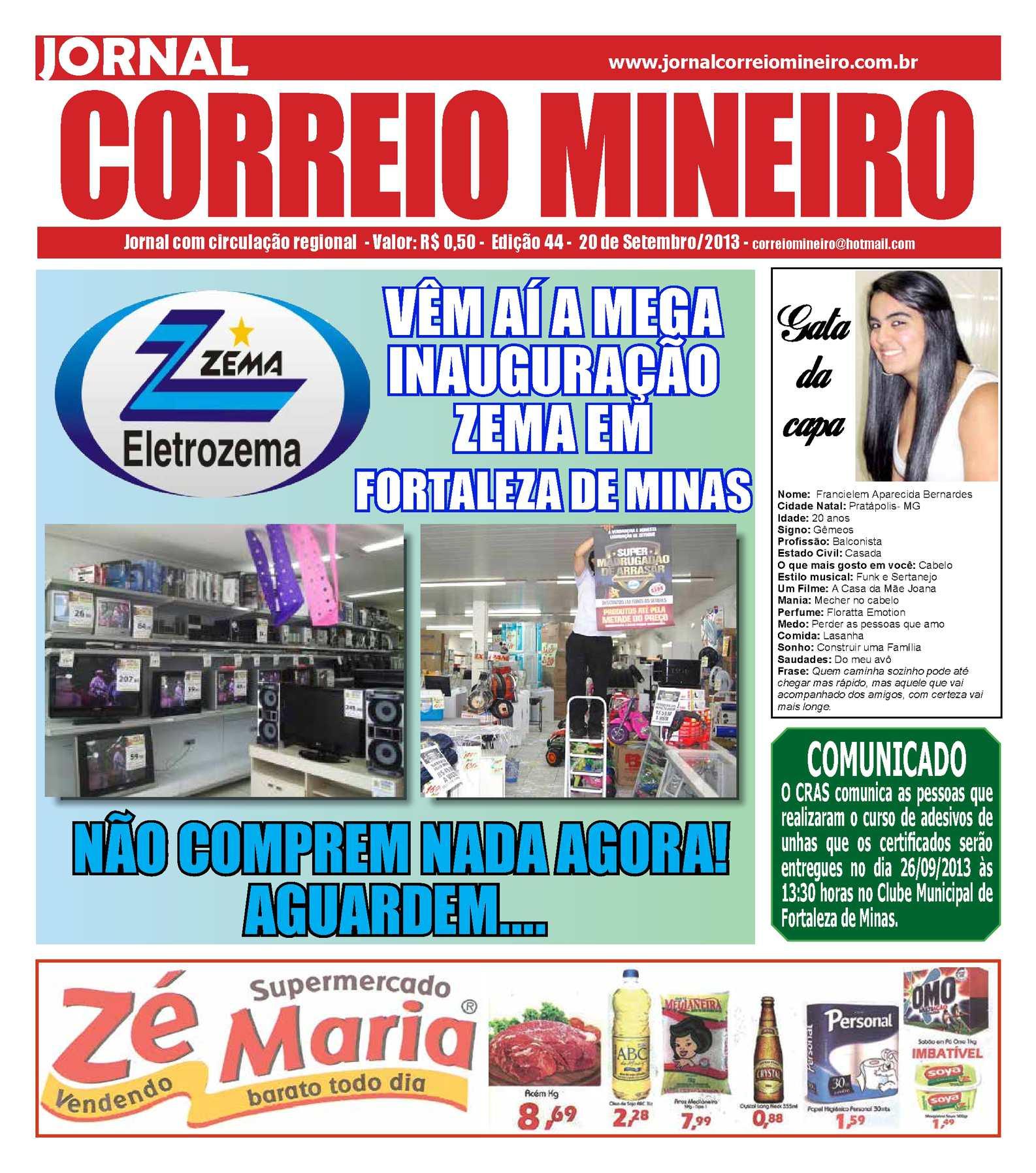 Calaméo - Edição de hoje dia 20-09-2013 - Jornal Correio Mineiro 86166b93aadd7