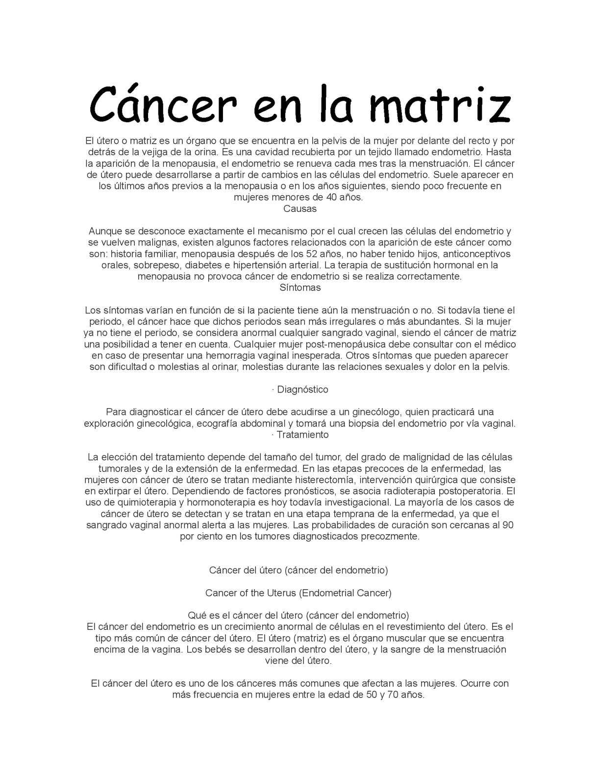 Calaméo Cancer En La Matriz