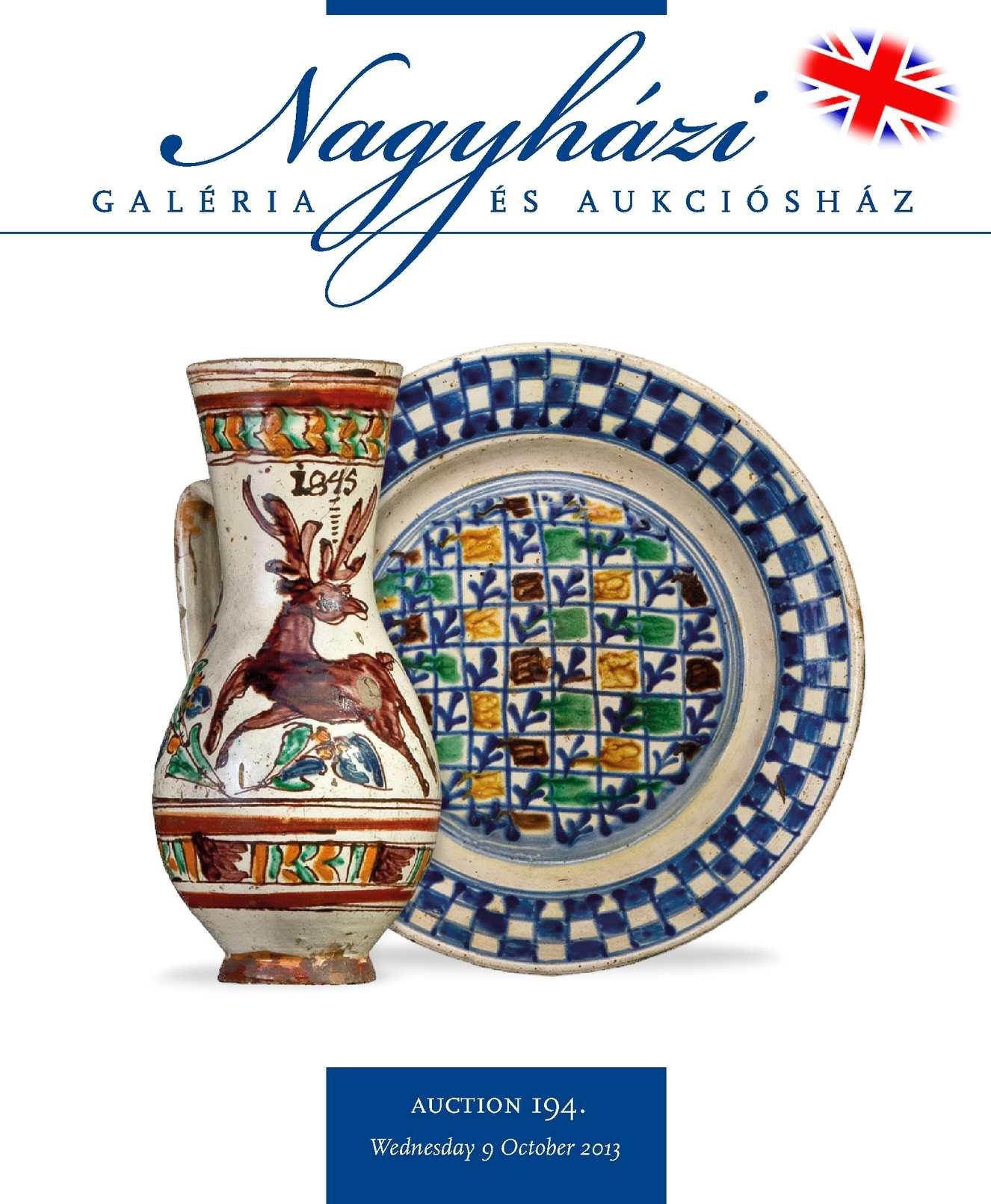 Nagyházi Galéria és Aukciósház – Auction 194.