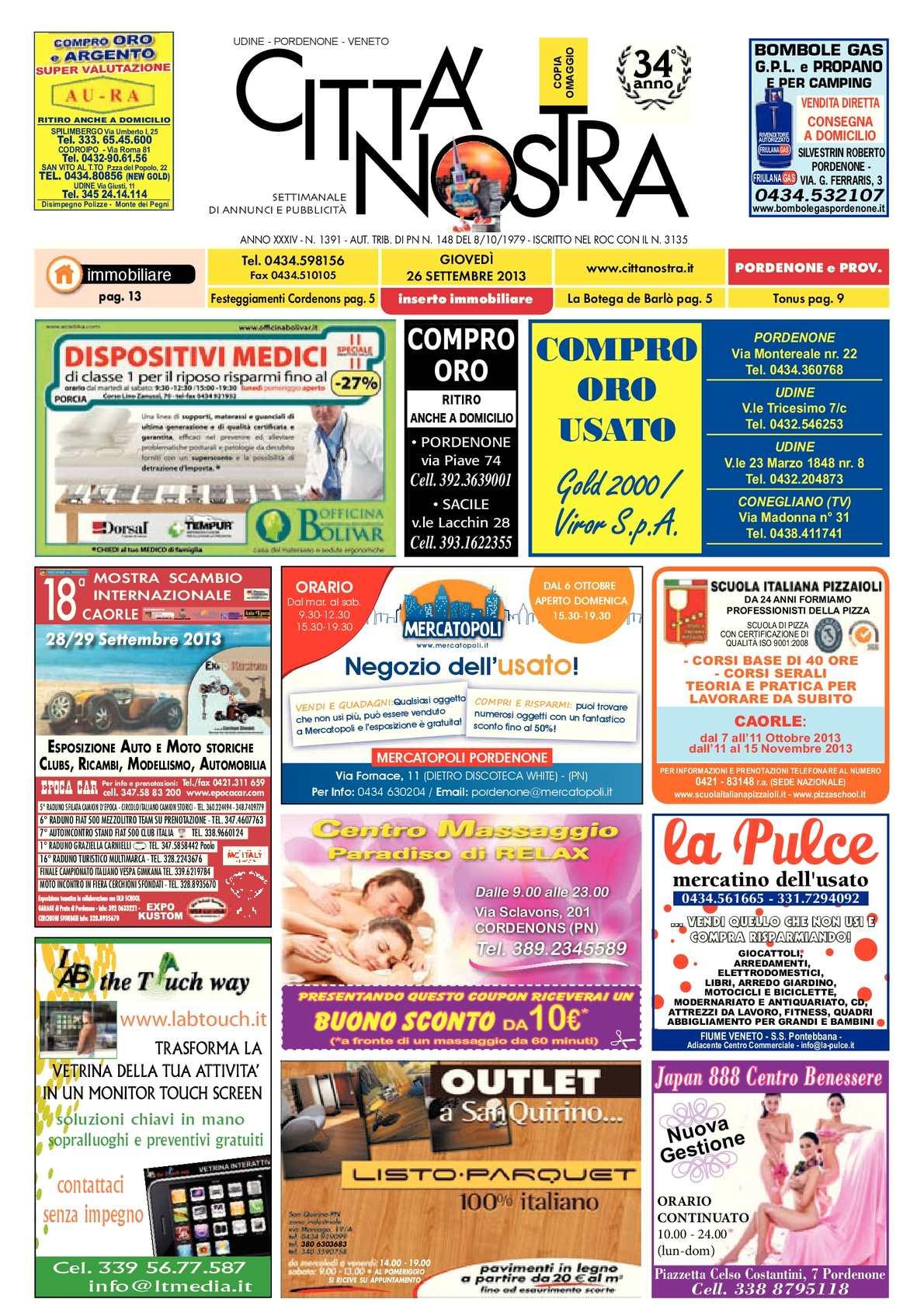 Calaméo - Città Nostra Pordenone del 26.09.2013 n. 1391 71550efd7d4
