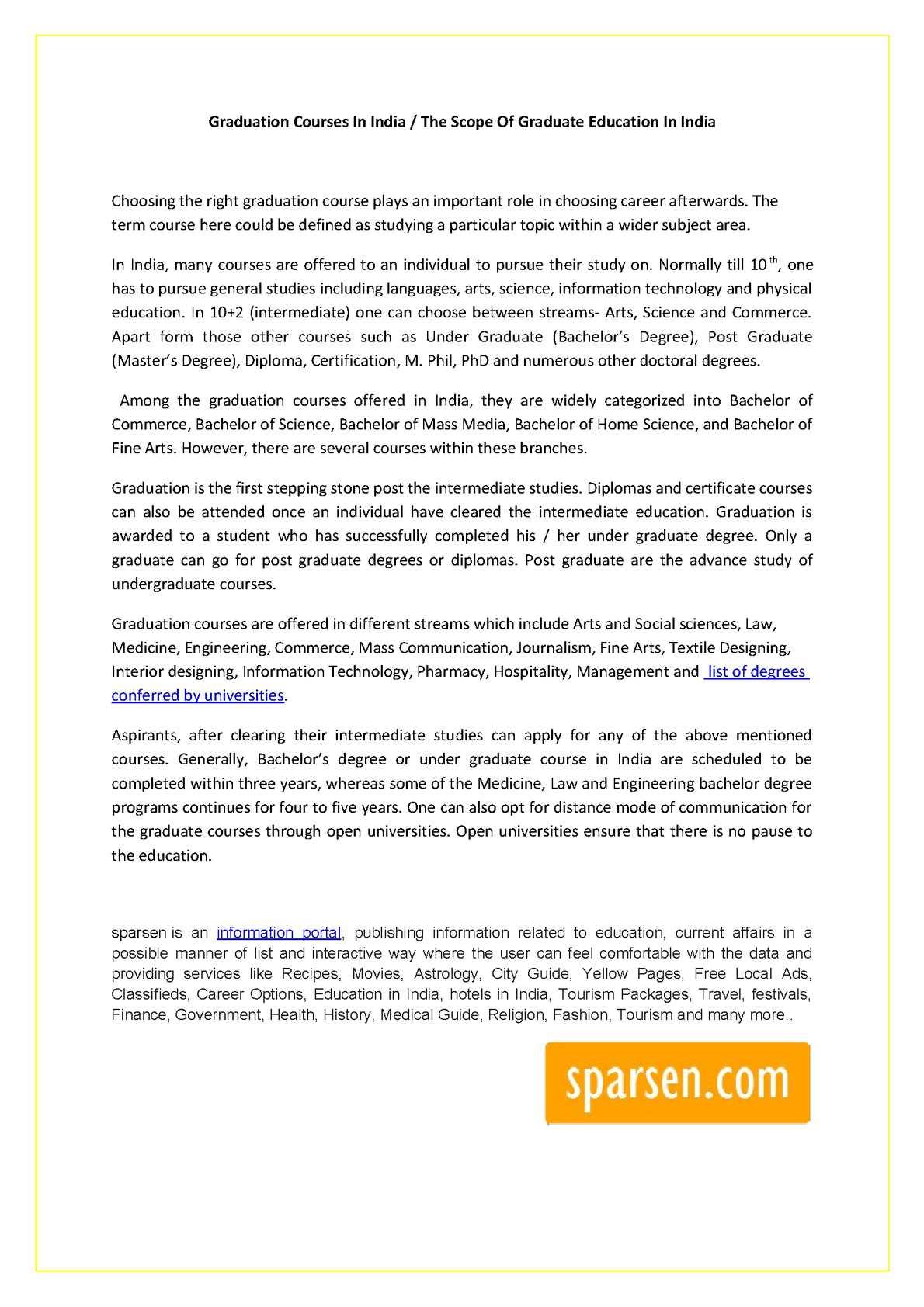 Calameo The Scope Of Graduate Education In India