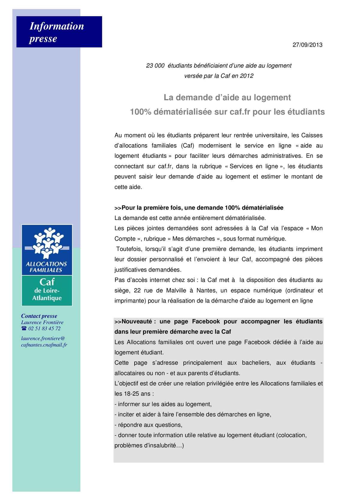 Calameo Une Demande D Aide Au Logement 100 Dematerialisee