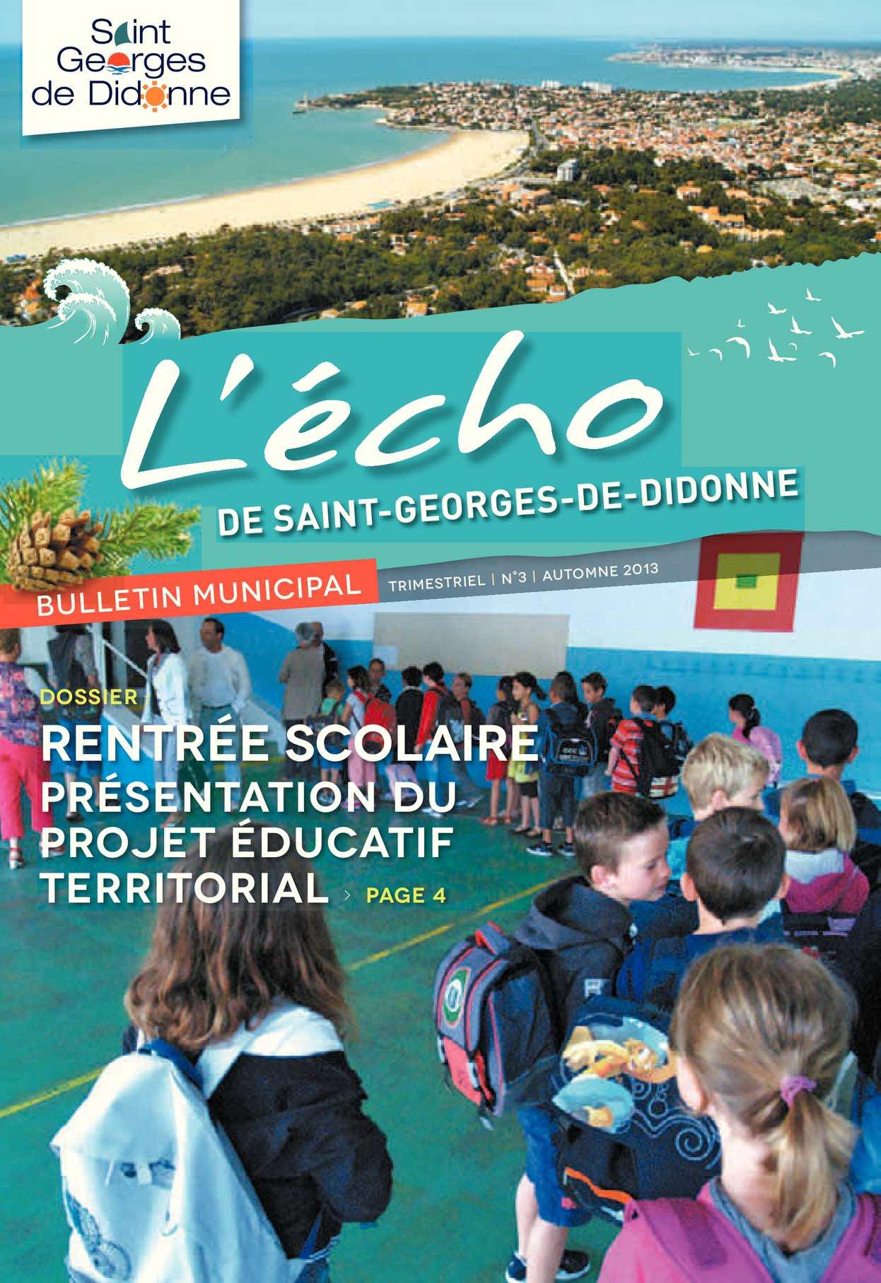 Anima Conseil Saint Georges De Didonne calaméo - l'écho n°3 sept 2013