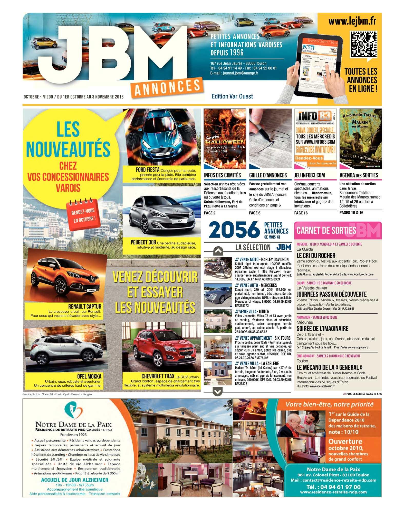 Calaméo Journal Jbm Annonces N200 Octobre 2013