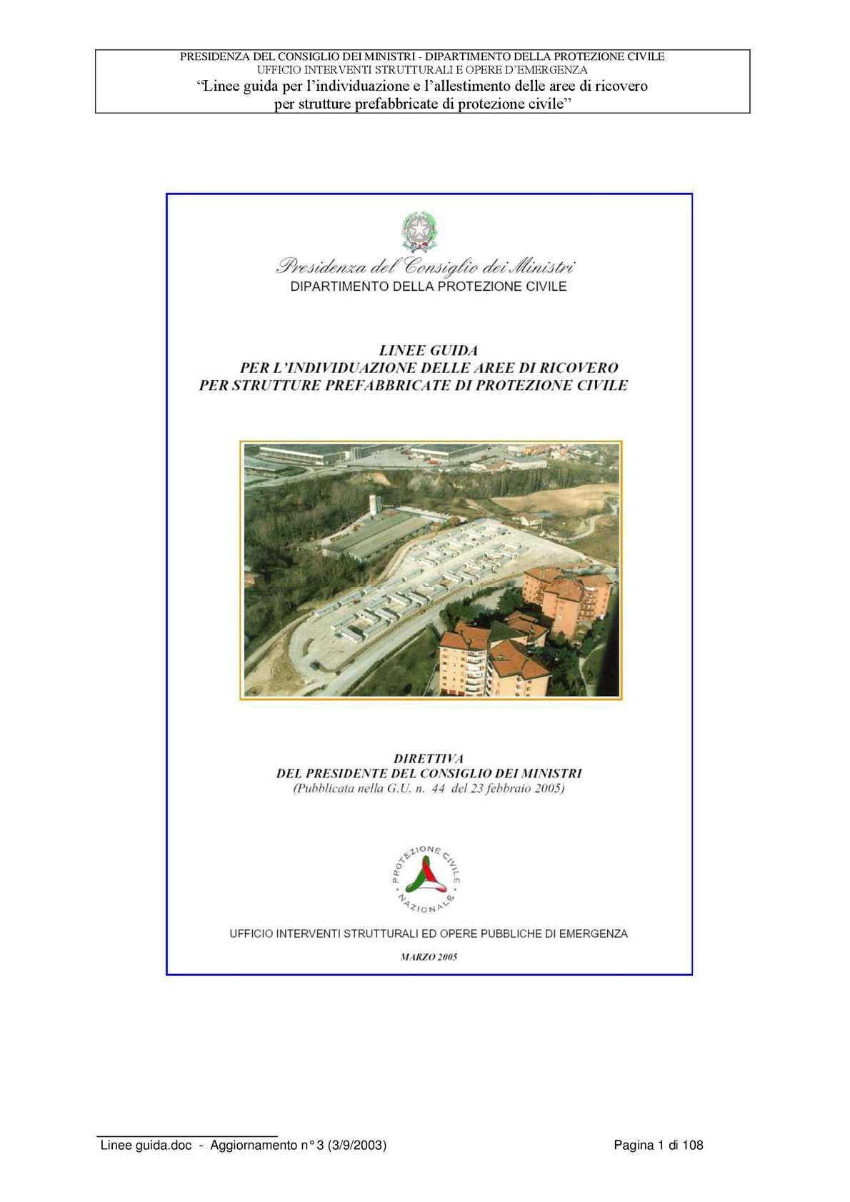 calaméo - 01_aree di ricovero linee guida d.p.c. presidenza del