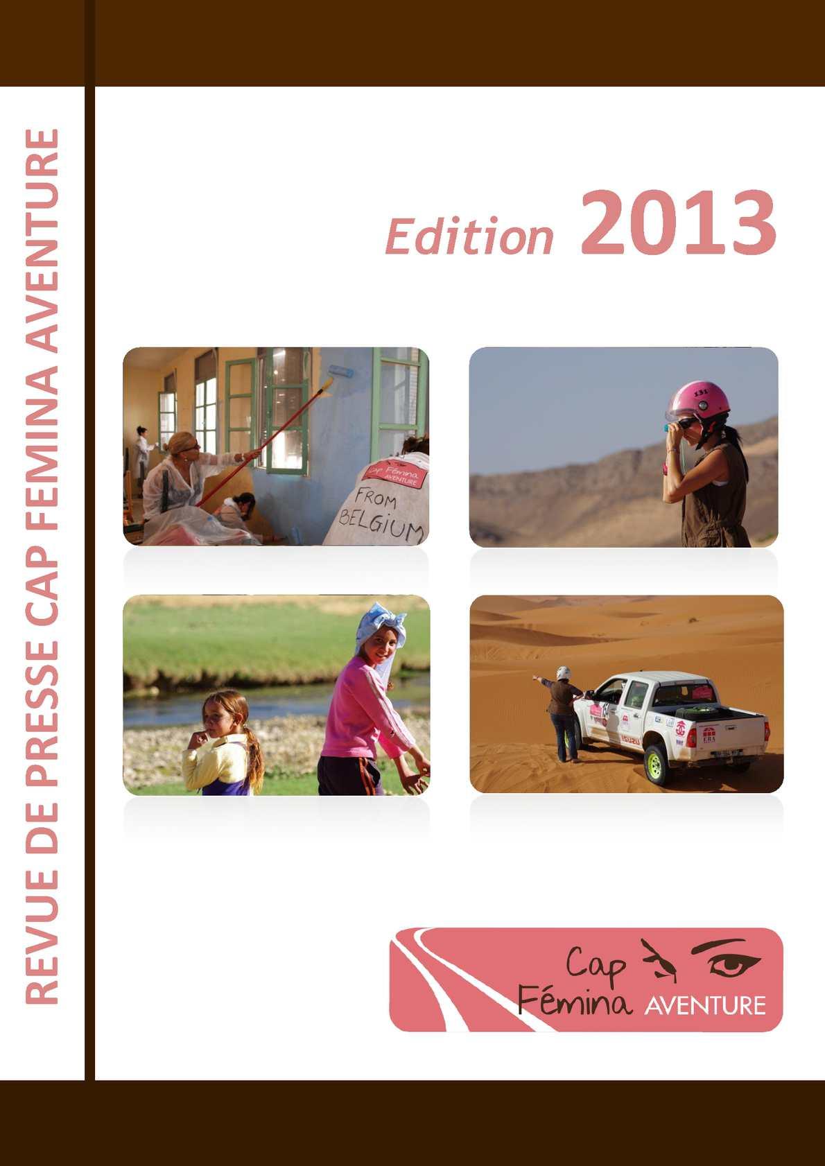e544240362a0 Calaméo - Revue de Presse Cap Femina Aventure 2013
